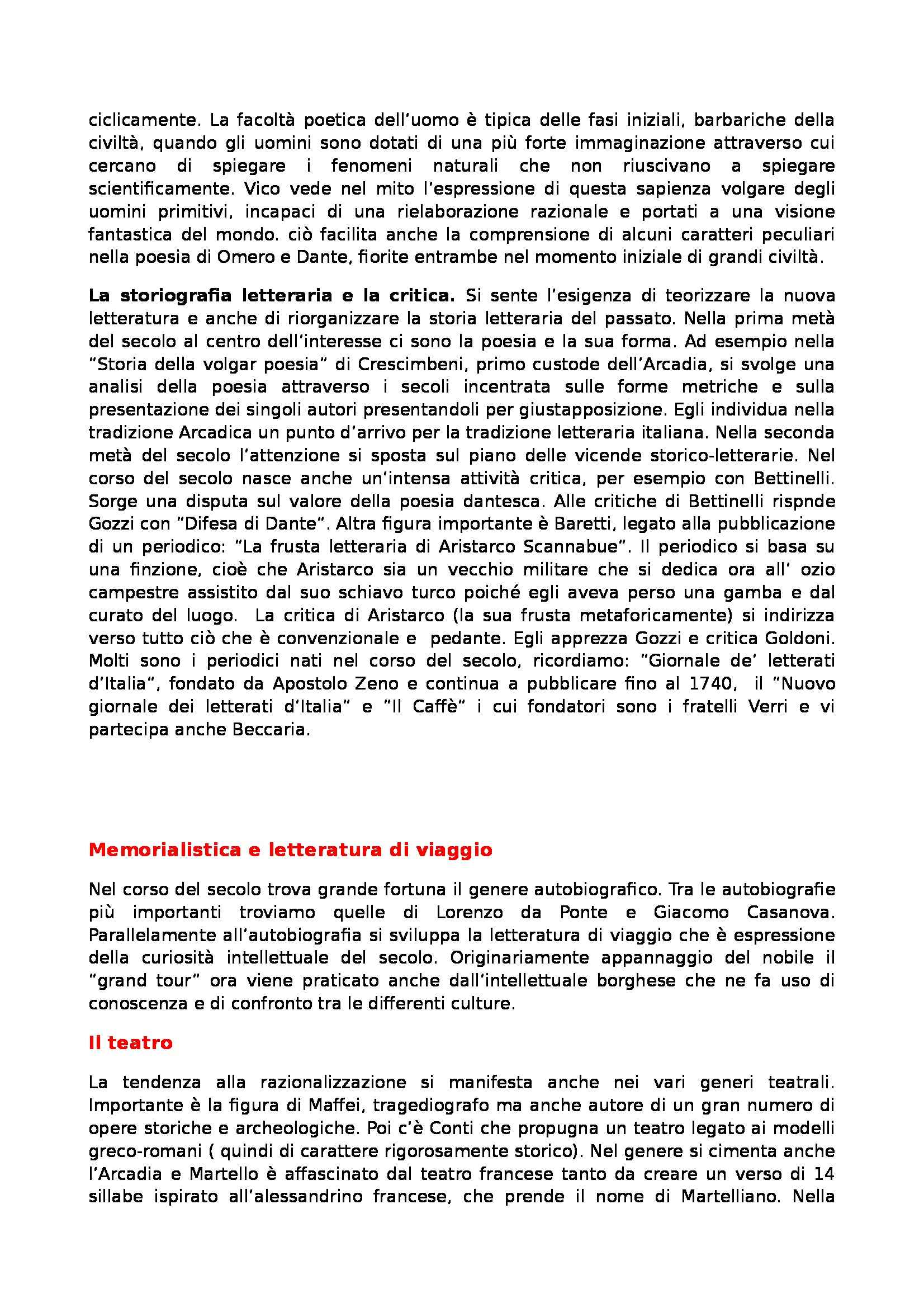 Riassunto esame Letteratura Italiana, prof. Gentili, libro consigliato Manuale di Letteratura Italiana Medievale e Moderna, Casadei Pag. 31