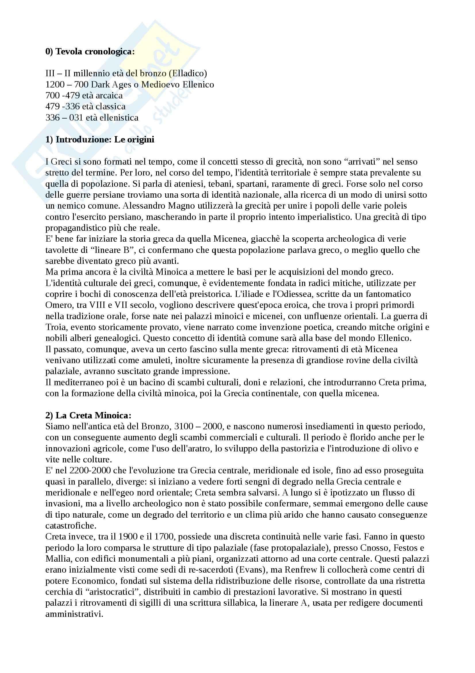 Riassunto esame Storia Greca, prof. Guizzi, libro consigliato Storia Greca di Bettalli, D'agata, Magnetto