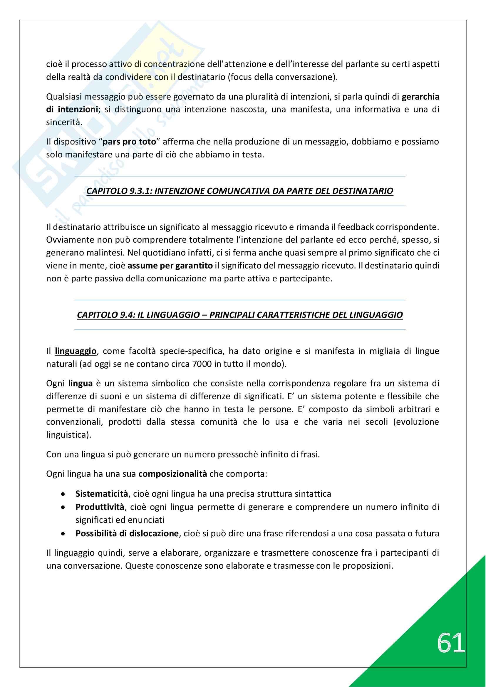 Psicologia generale e dello Sport - 1° Anno Scienze Motorie Pag. 61