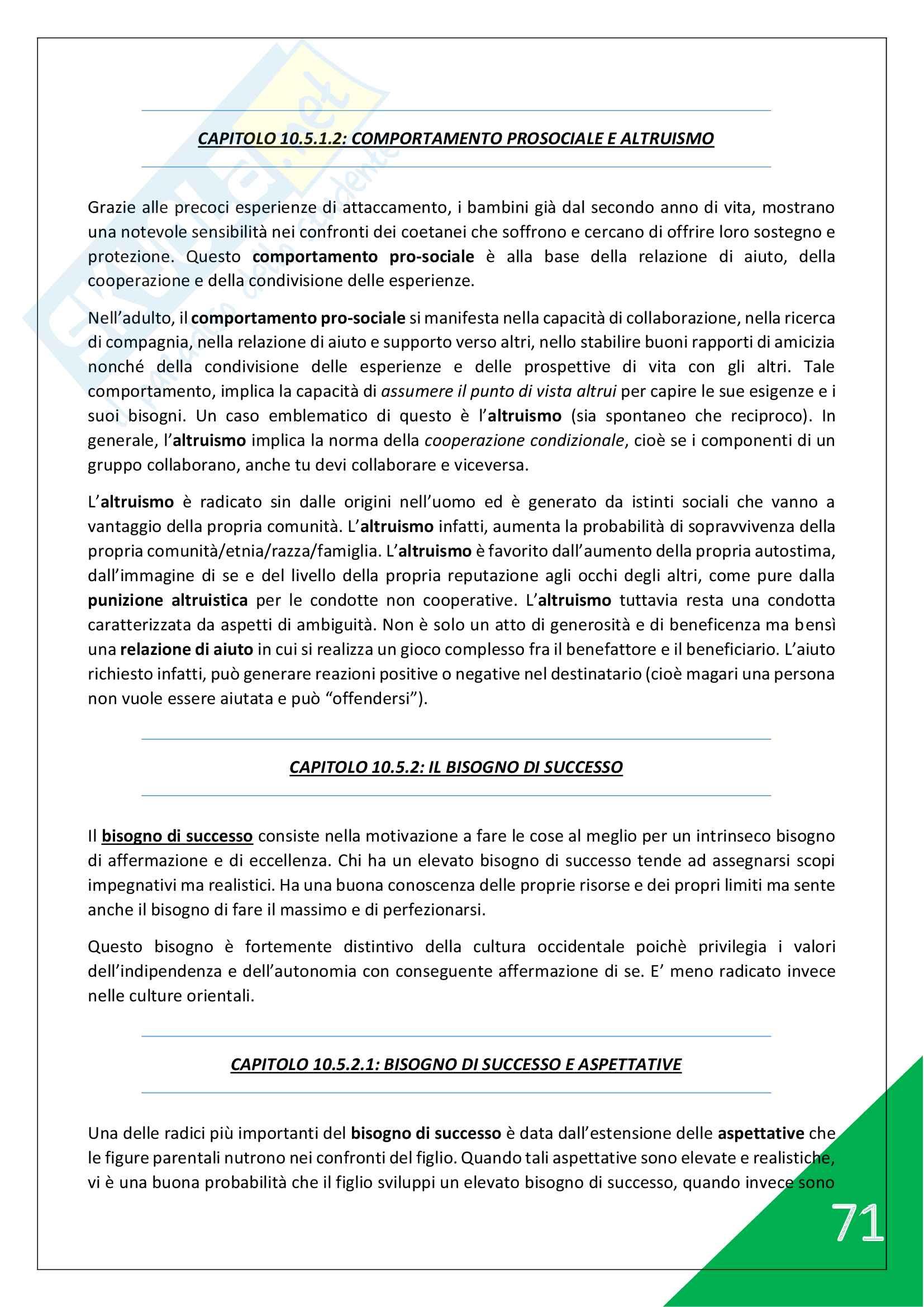 Psicologia generale e dello Sport - 1° Anno Scienze Motorie Pag. 71
