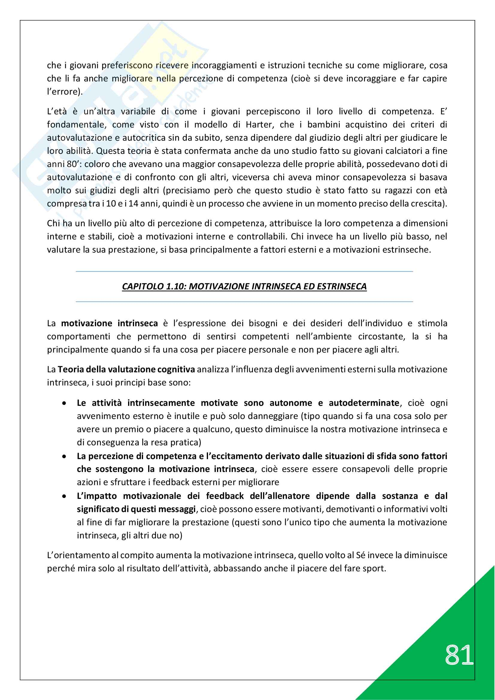 Psicologia generale e dello Sport - 1° Anno Scienze Motorie Pag. 81
