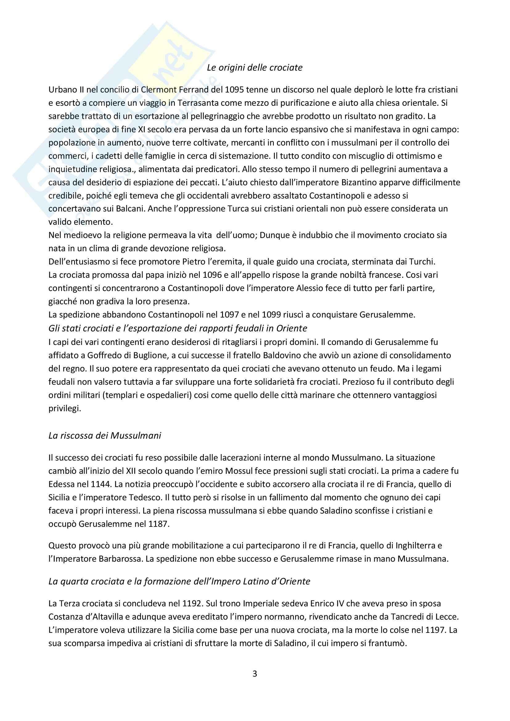 Riassunto esame Storia medievale, prof. Ronzani, libro consigliato Medioevo. I caratteri originali di un età di transizione Vitolo Pag. 2