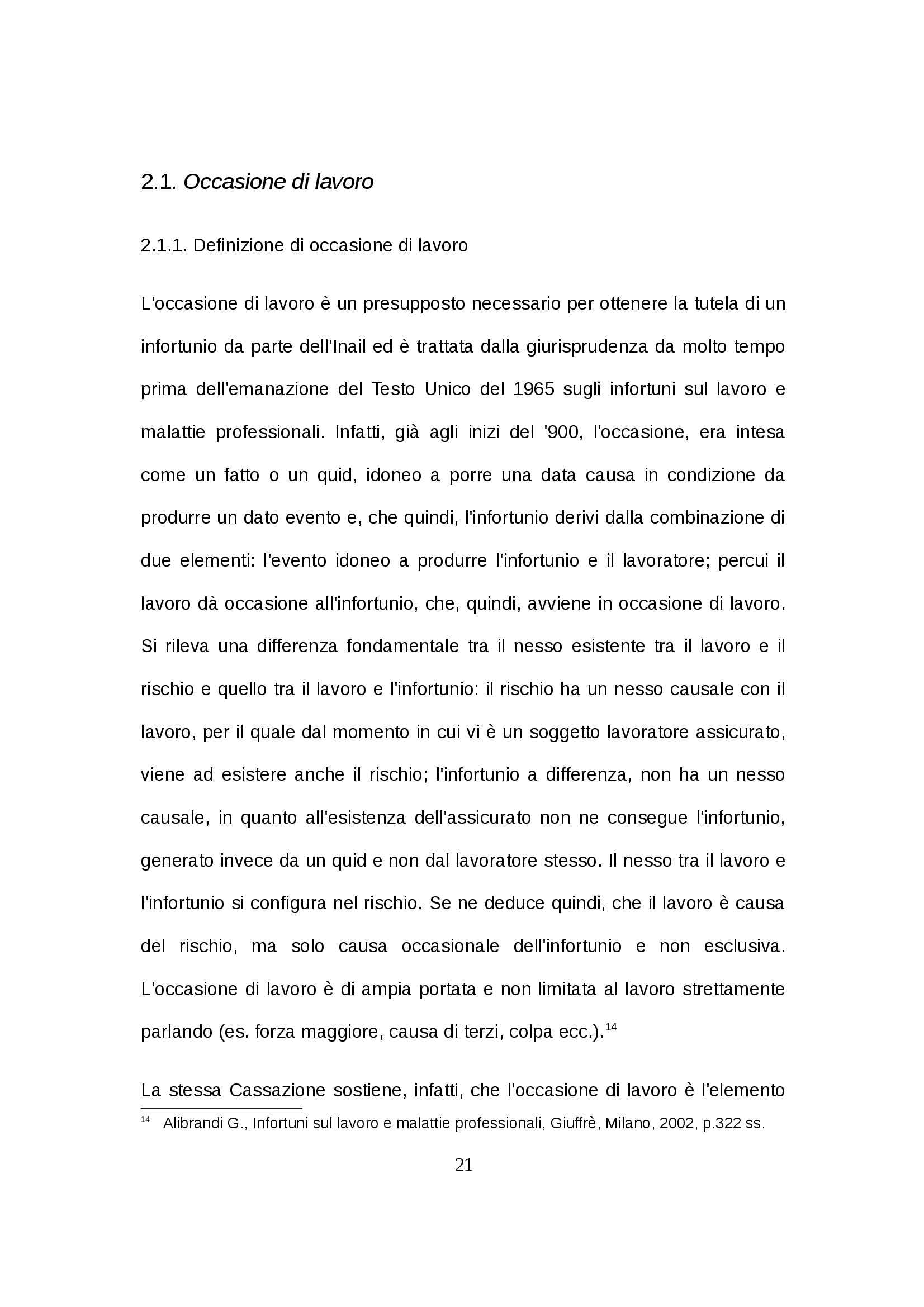 Tesi - Infortunio in itinere Pag. 21