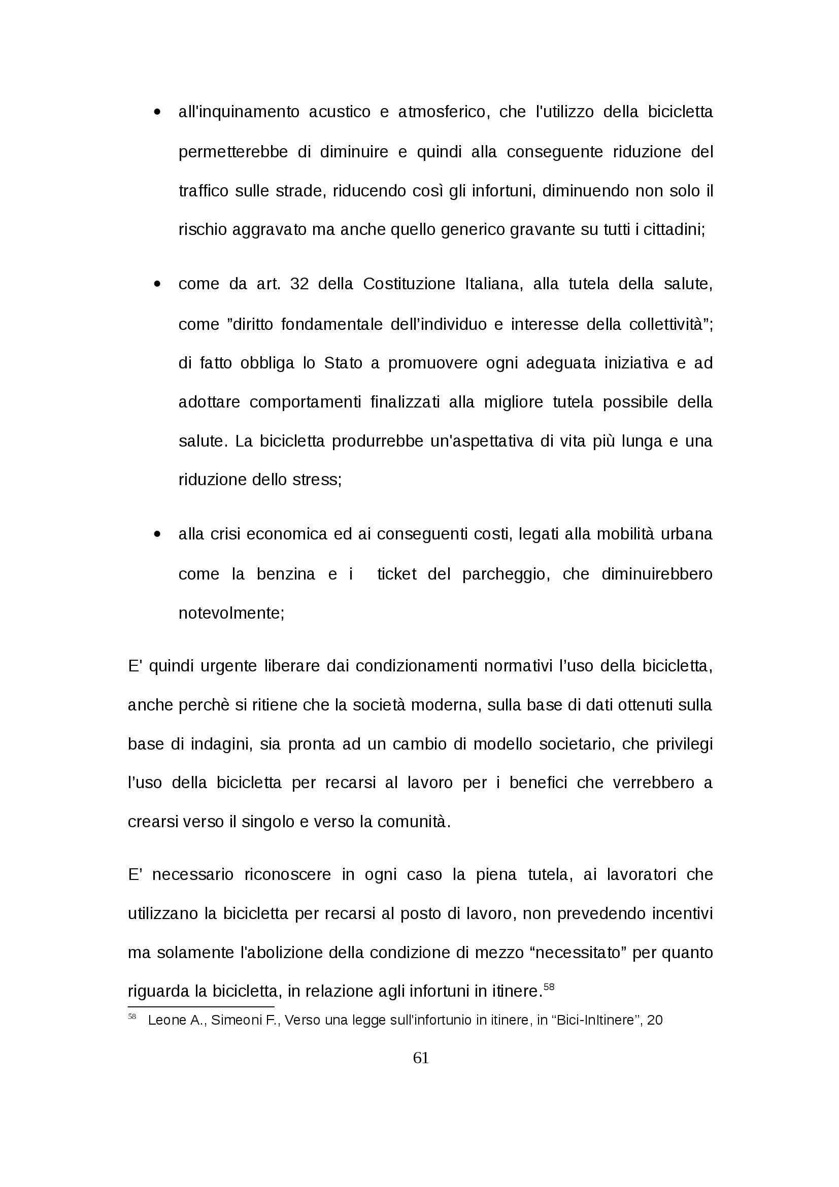 Tesi - Infortunio in itinere Pag. 61