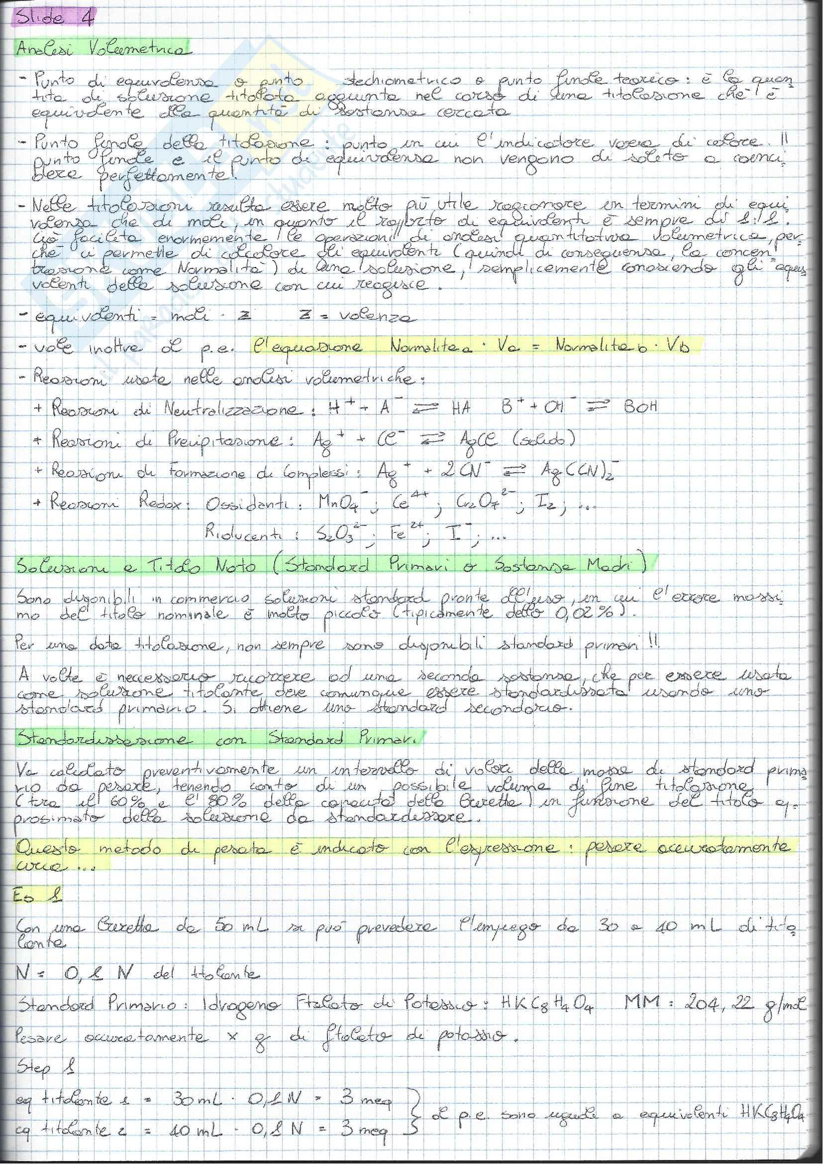 01 e 08 - Analisi Chimico Tossicologica 1 - Esercizi Pag. 11