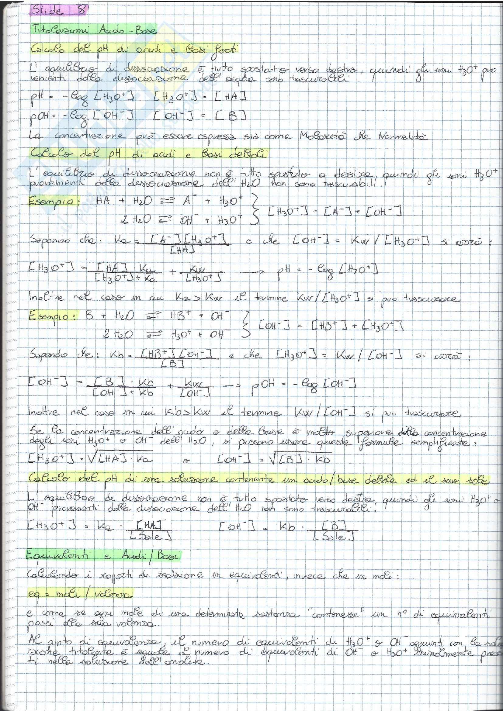 01 e 08 - Analisi Chimico Tossicologica 1 - Esercizi Pag. 26