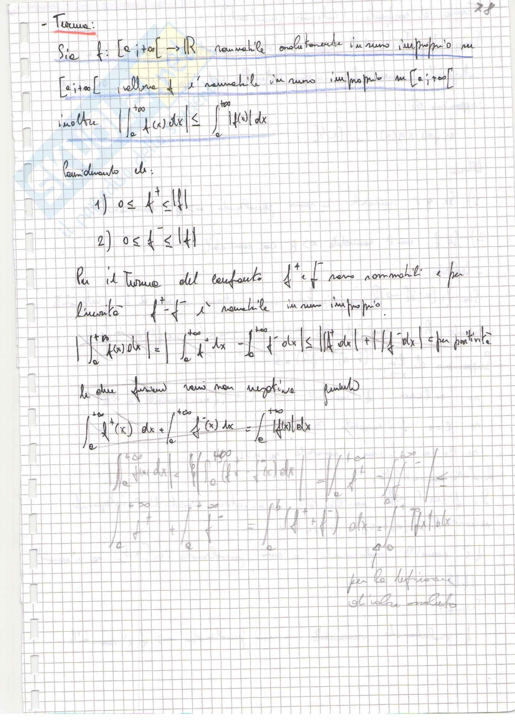 Riassunto esame (parte due) di Analisi matematica 1, prof. Zamboni Pag. 21