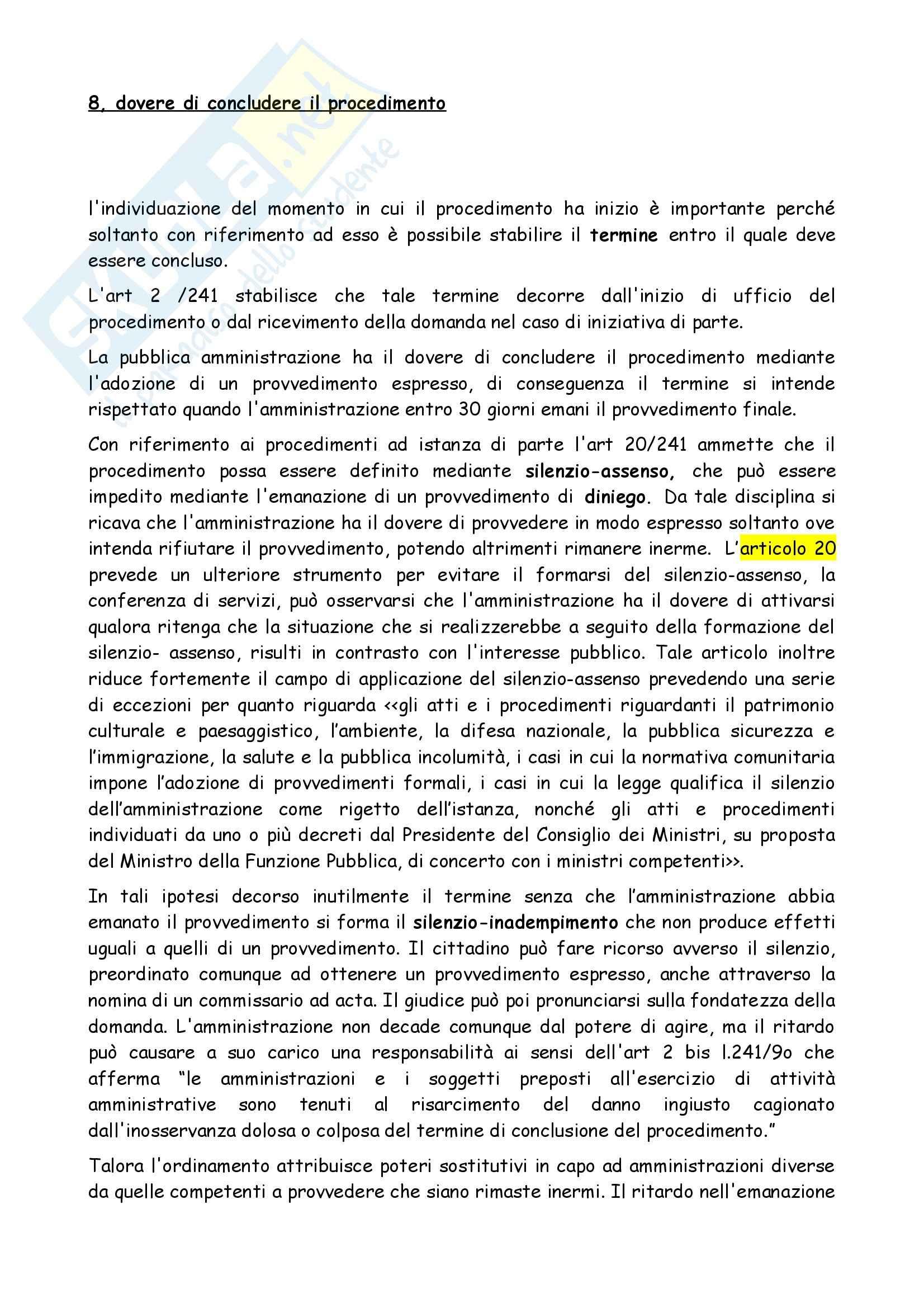 Diritto amministrativo - il procedimento amministrativo Pag. 6