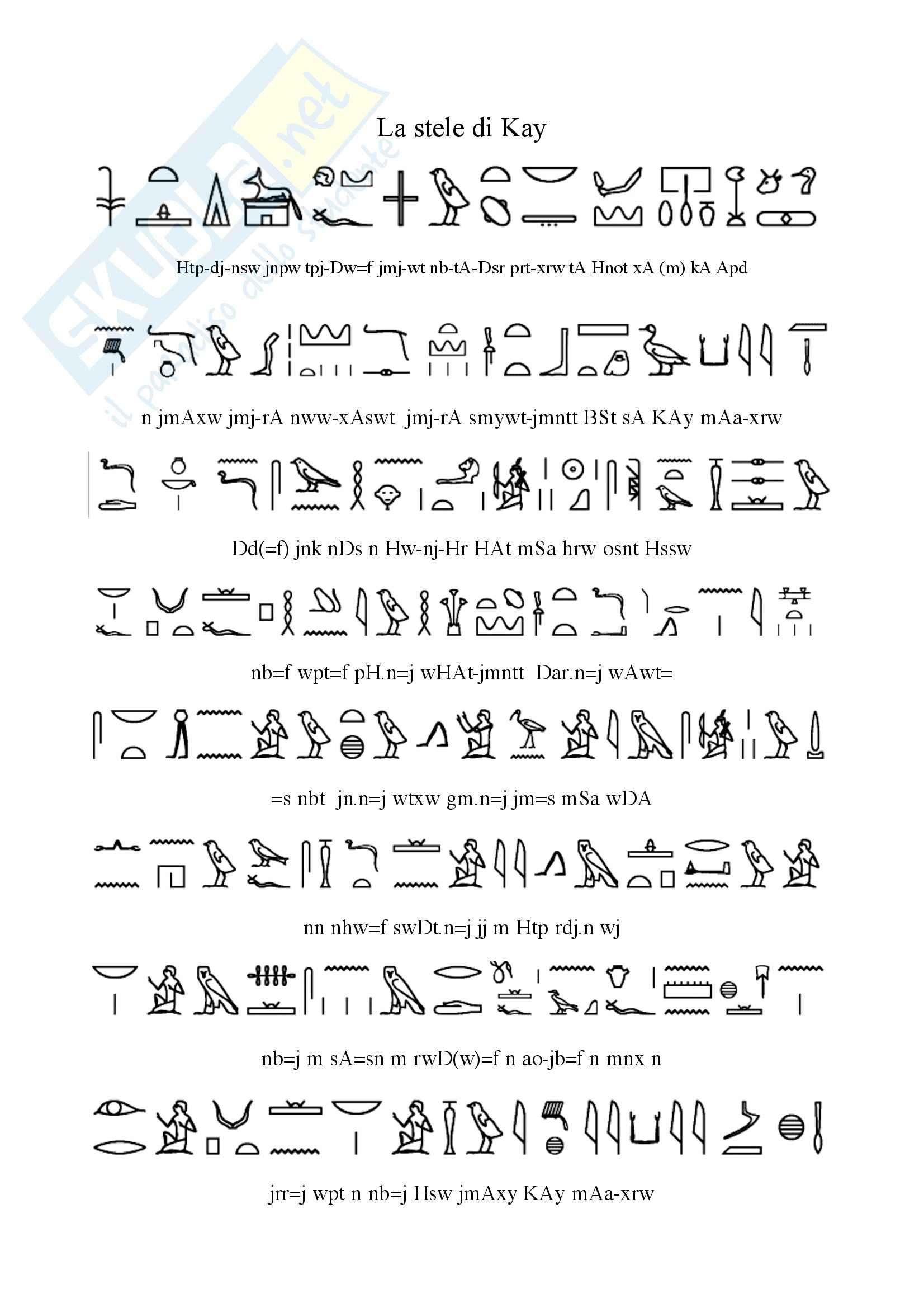 Egittologia - La Stele di Kay
