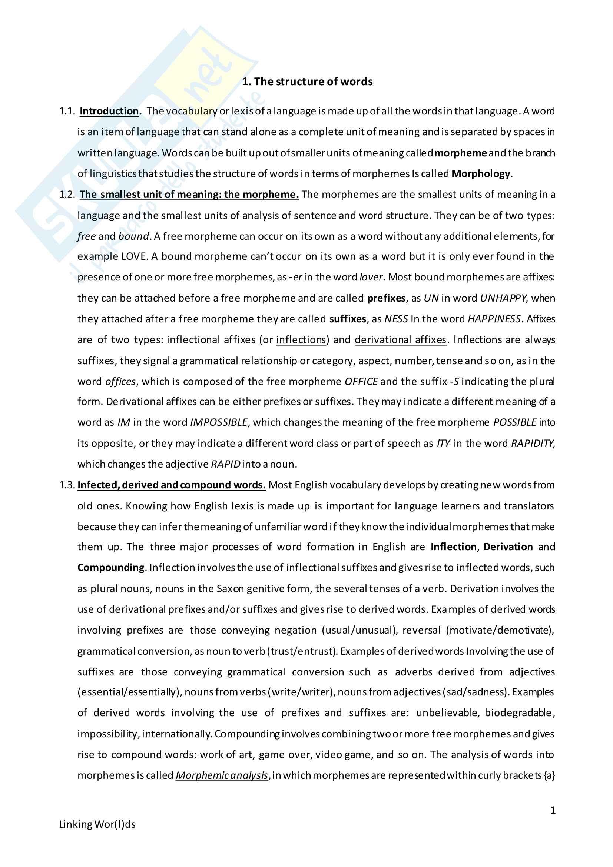 """Riassunto per esame di Lingua e traduzione Inglese, prof.ssa Gatto, libro consigliato Linking Wor(l)ds"""" di S. Laviosa"""