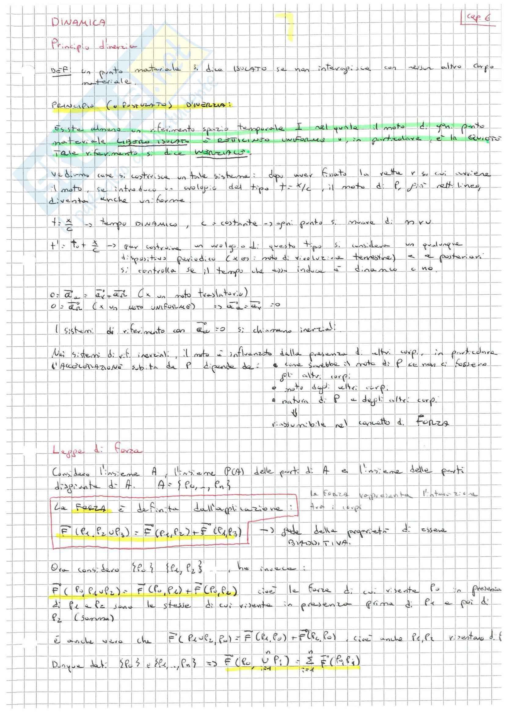 Meccanica razionale Pag. 31