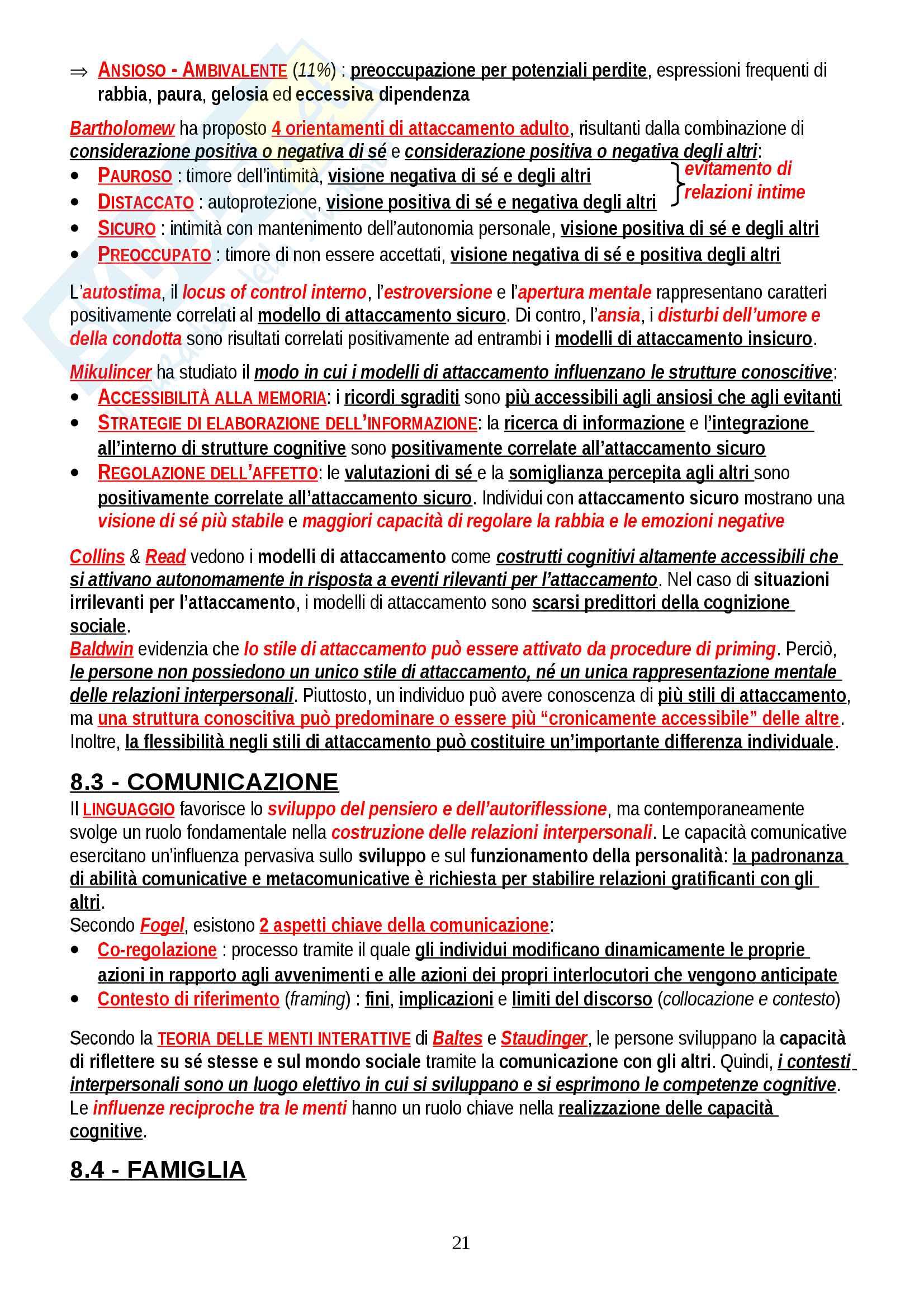 """Riassunto esame Psicologia delle Emozioni e della Personalità, prof. Gerbino, libro consigliato """"Personalità, determinanti, dinamiche, potenzialità"""", Caprara Pag. 21"""