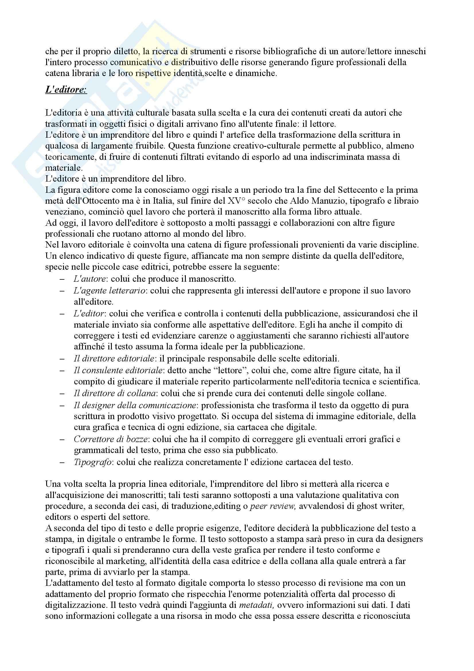 Il circuito della comunicazione libraria, Biblioteconomia Pag. 2