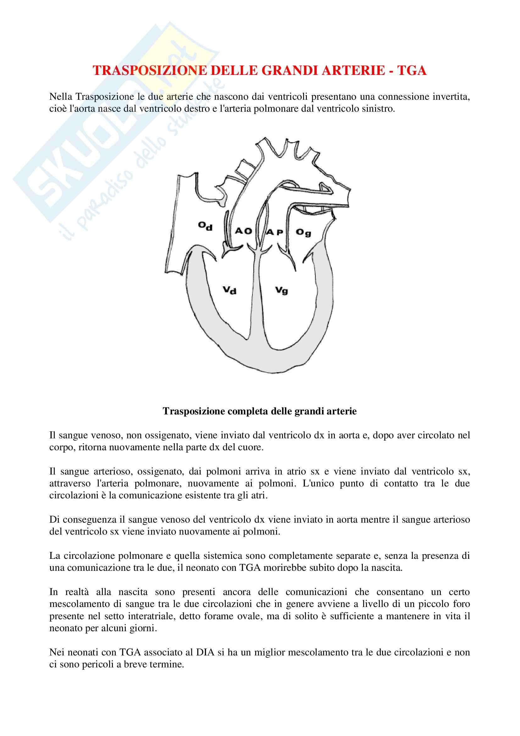 Cardiochirurgia - TGA e DIA