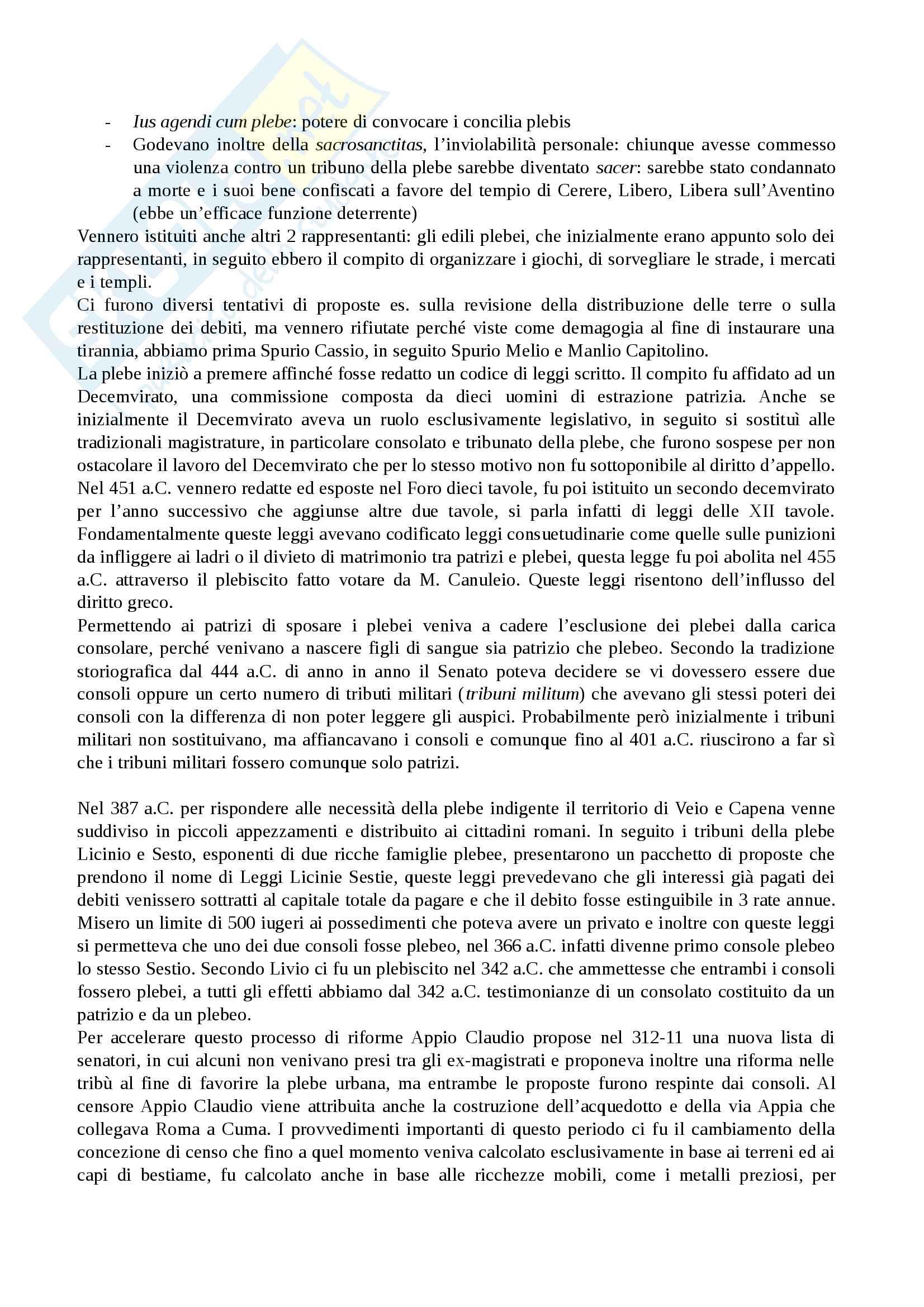 Riassunto esame Storia Romana Pag. 11