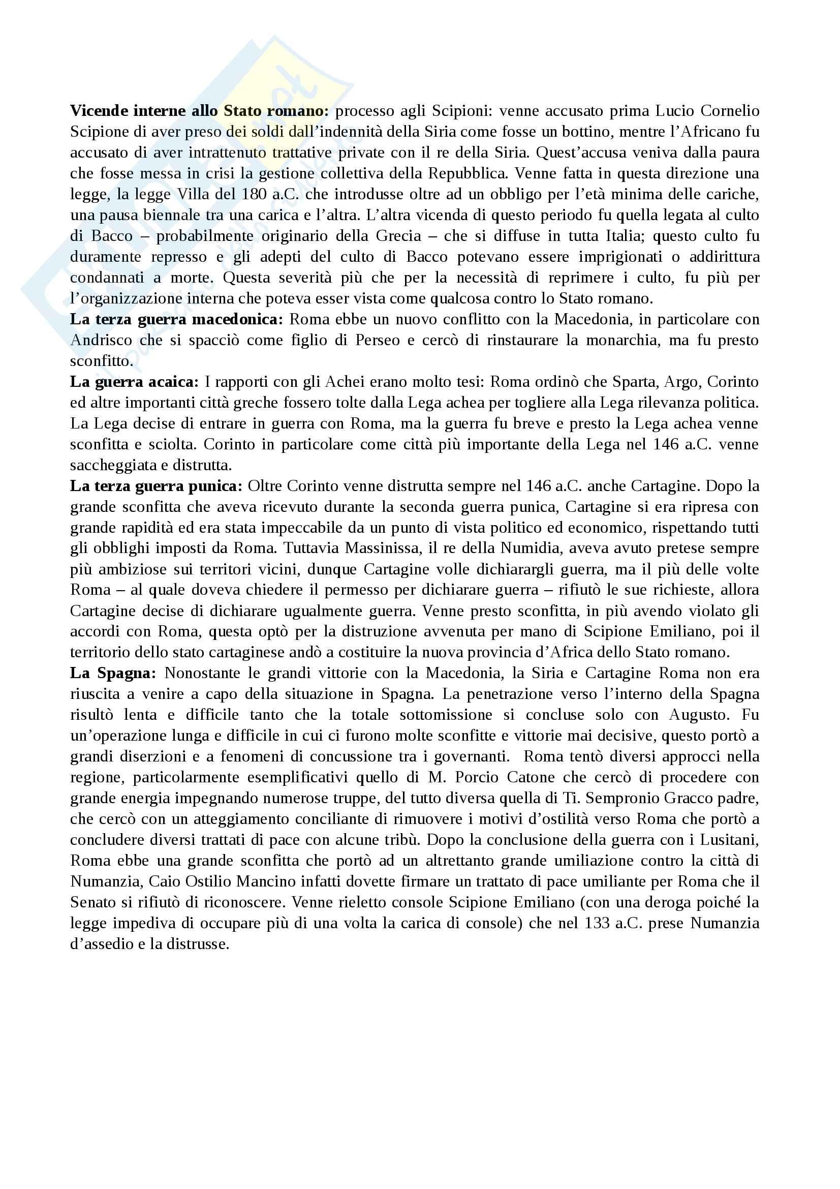 Riassunto esame Storia Romana Pag. 16