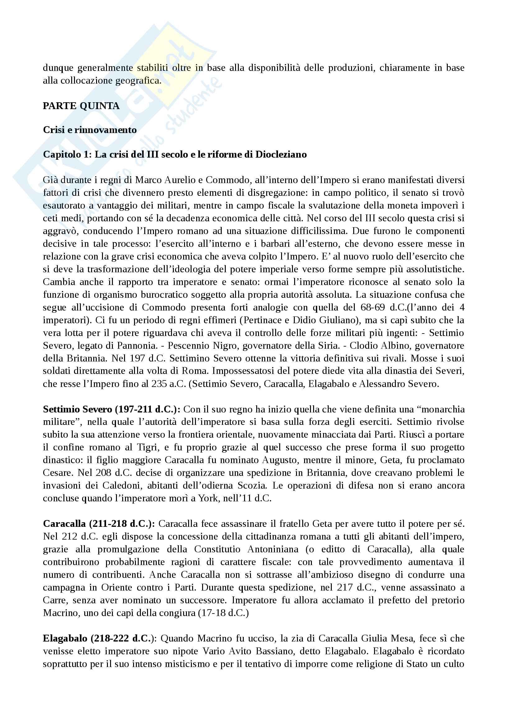 Riassunto esame Storia Romana Pag. 36