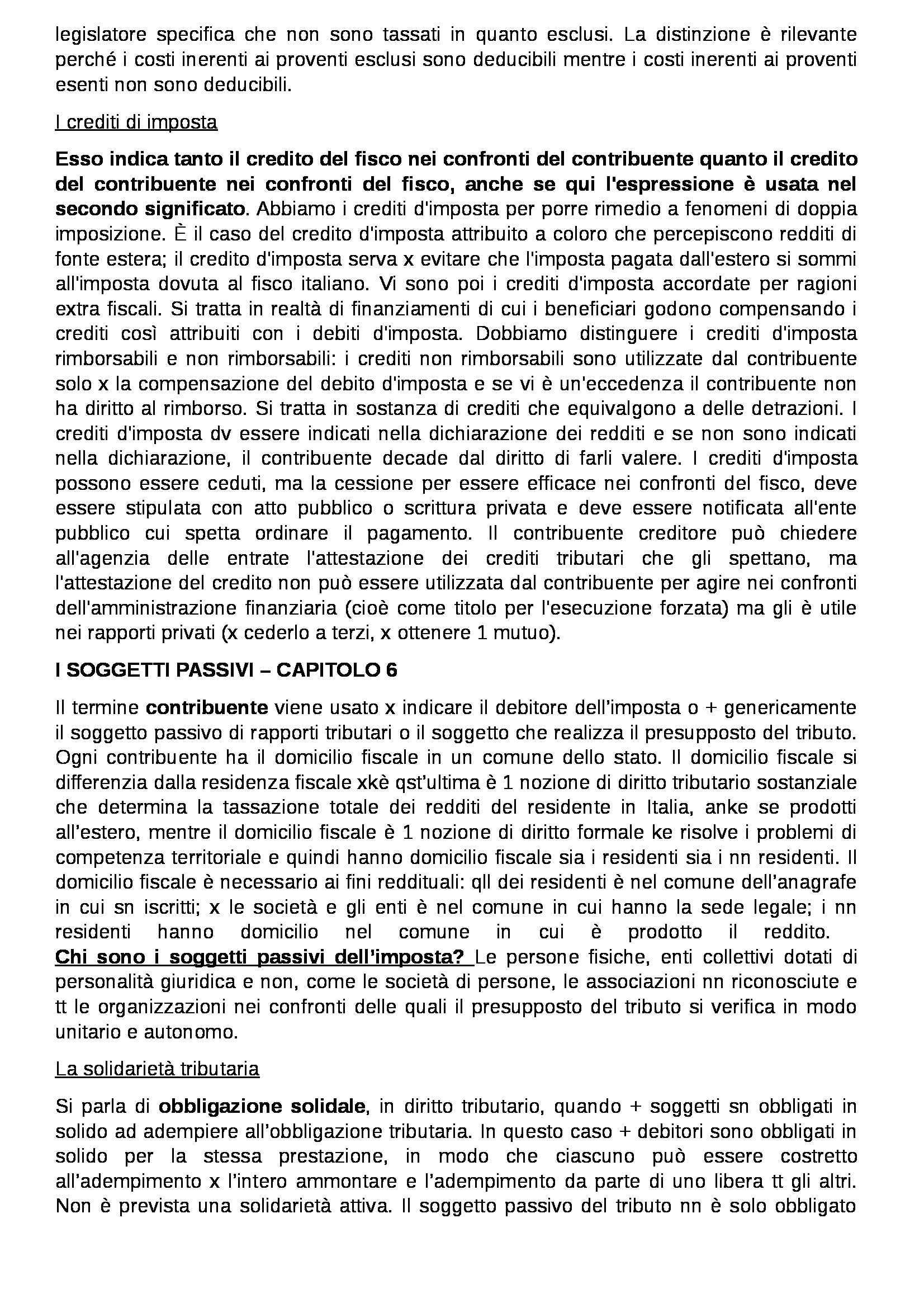 Riassunto esame Diritto Tributario, prof. Coppola, libro consigliato Diritto tributario: Parte generale di Tesauro Pag. 16