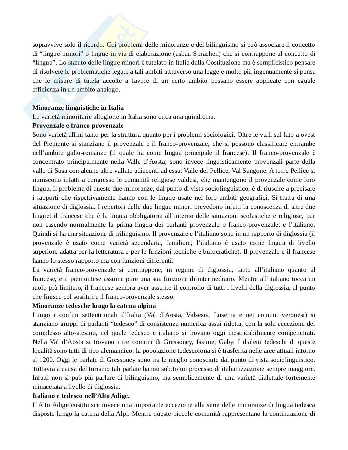 Riassunto esame Sociolinguistica,  prof. Mori, libro consigliato Introduzione all'italiano contemporaneo.Vol. 2 (la variazione e gli usi), Sobrero Pag. 26