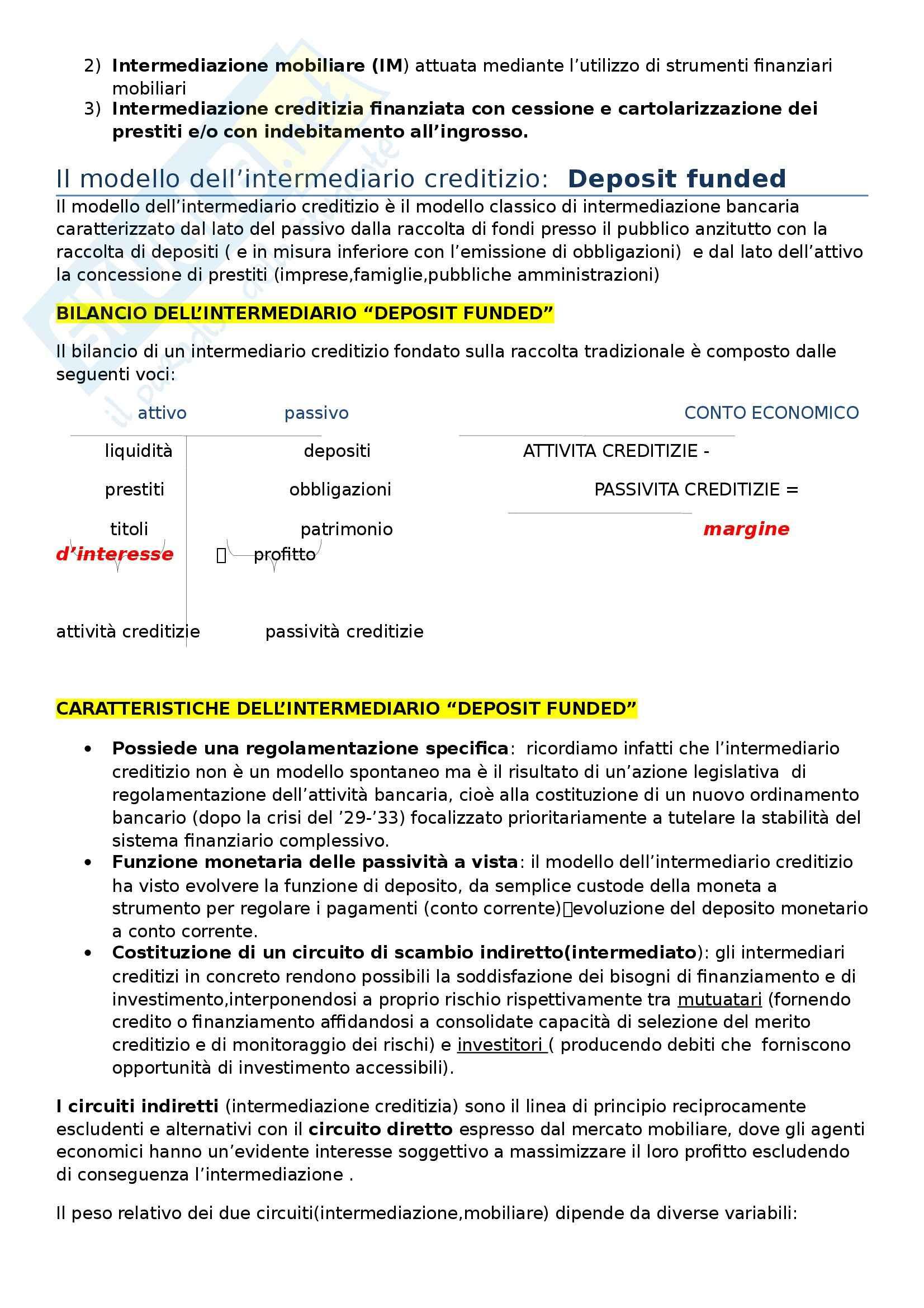 Riassunto esame Economia delle aziende di credito, prof. Filotto, libro consigliato di Mottura, Paci Pag. 2