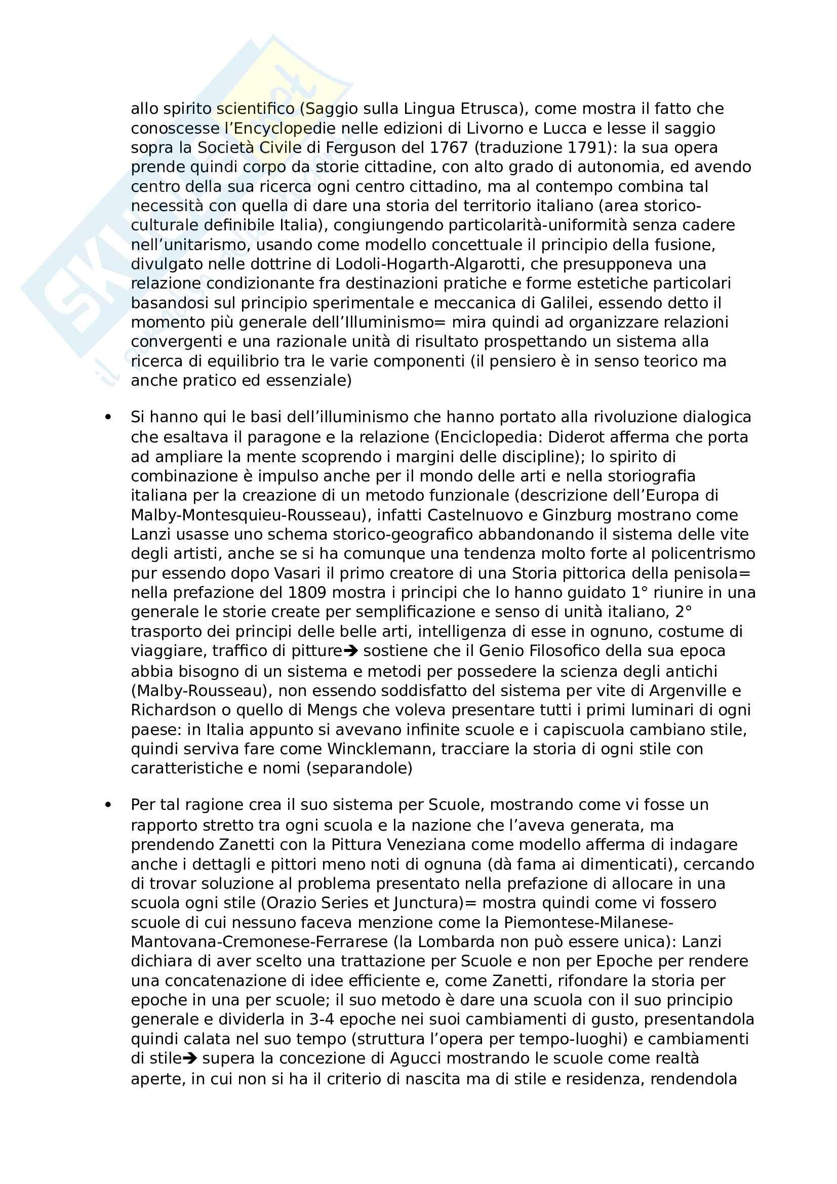 Riassunto esame storia della Letteratura artistica, prof Sacchi, libro consigliato la Coscienza Storica dell'arte, Bologna Pag. 6