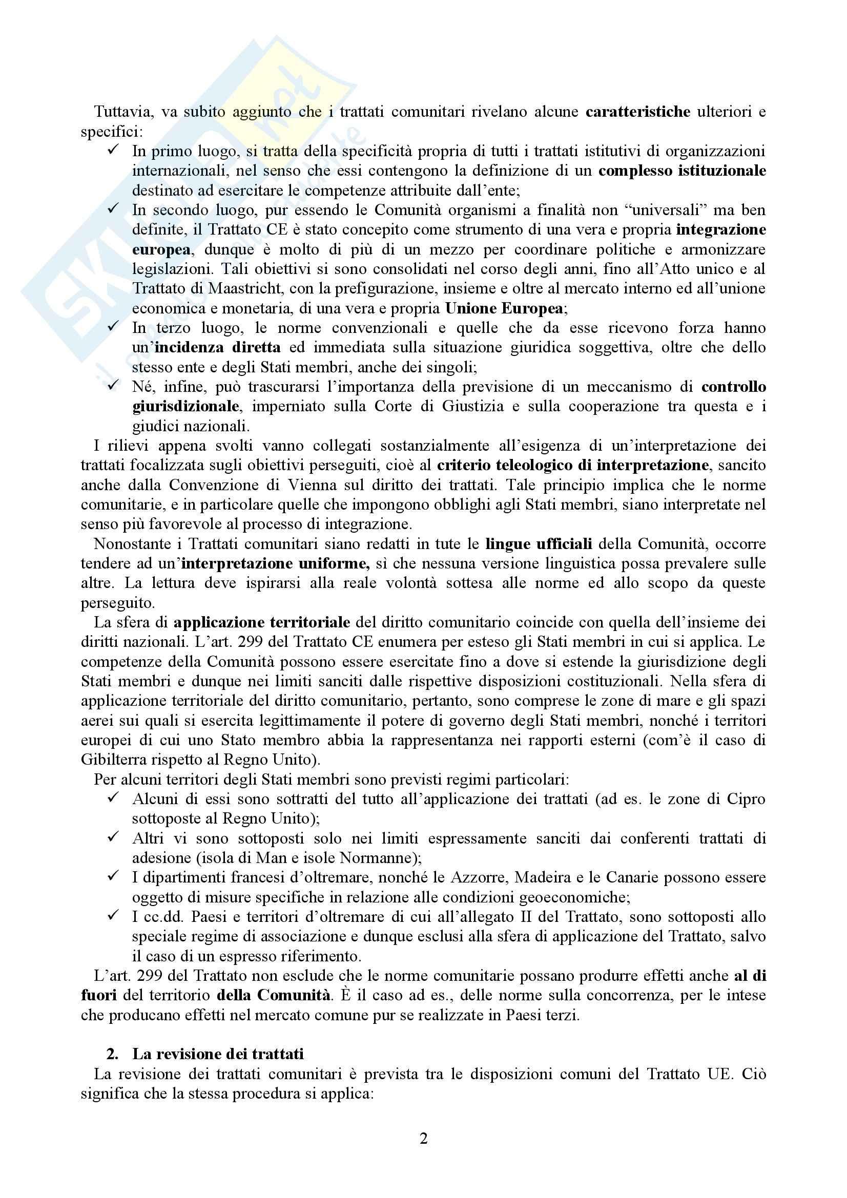 Riassunto esame Diritto dell'Unione Europea, prof. Casolari, libro consigliato Diritto dell'Unione Europea, Tesauro Pag. 2