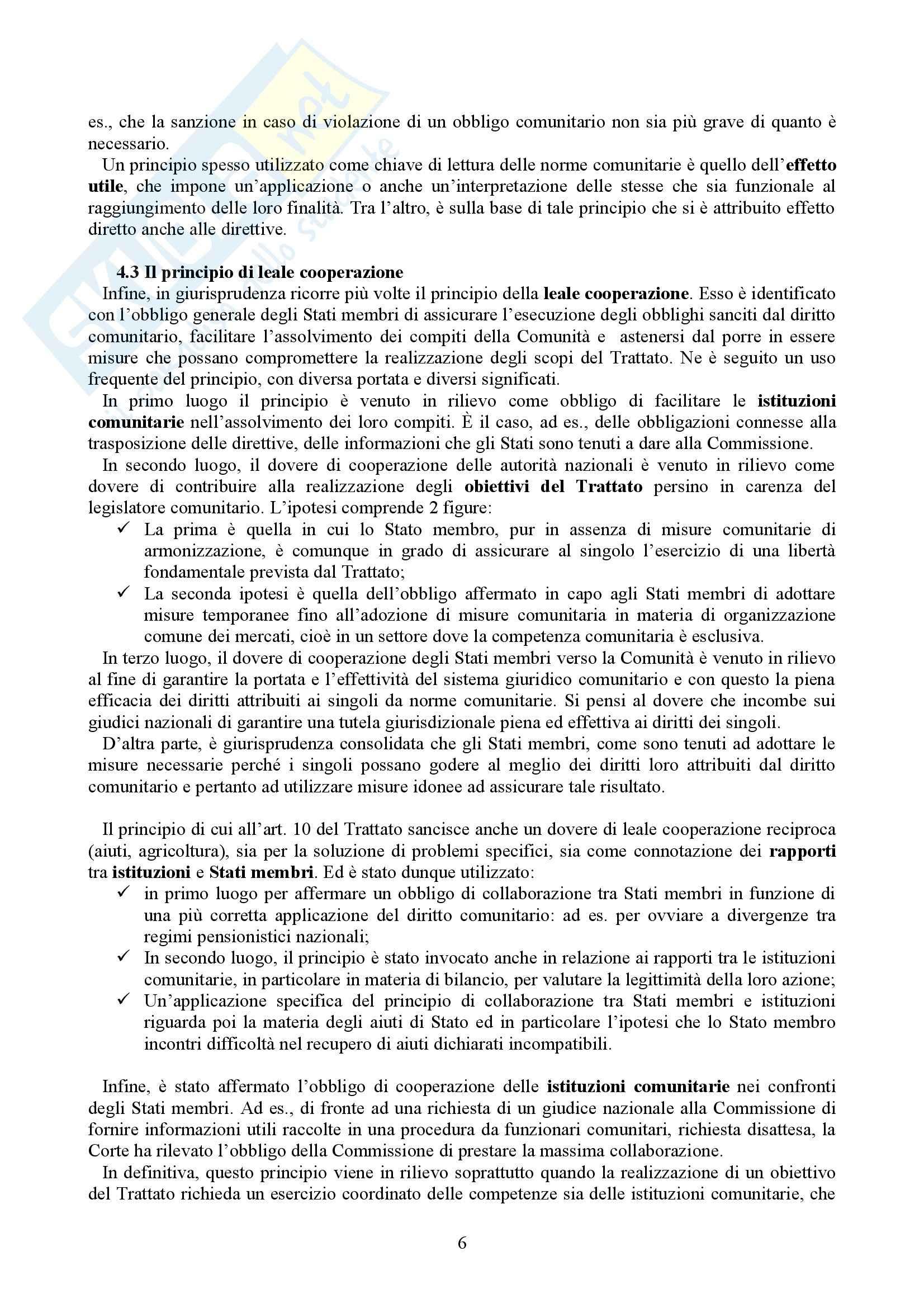 Riassunto esame Diritto dell'Unione Europea, prof. Casolari, libro consigliato Diritto dell'Unione Europea, Tesauro Pag. 6