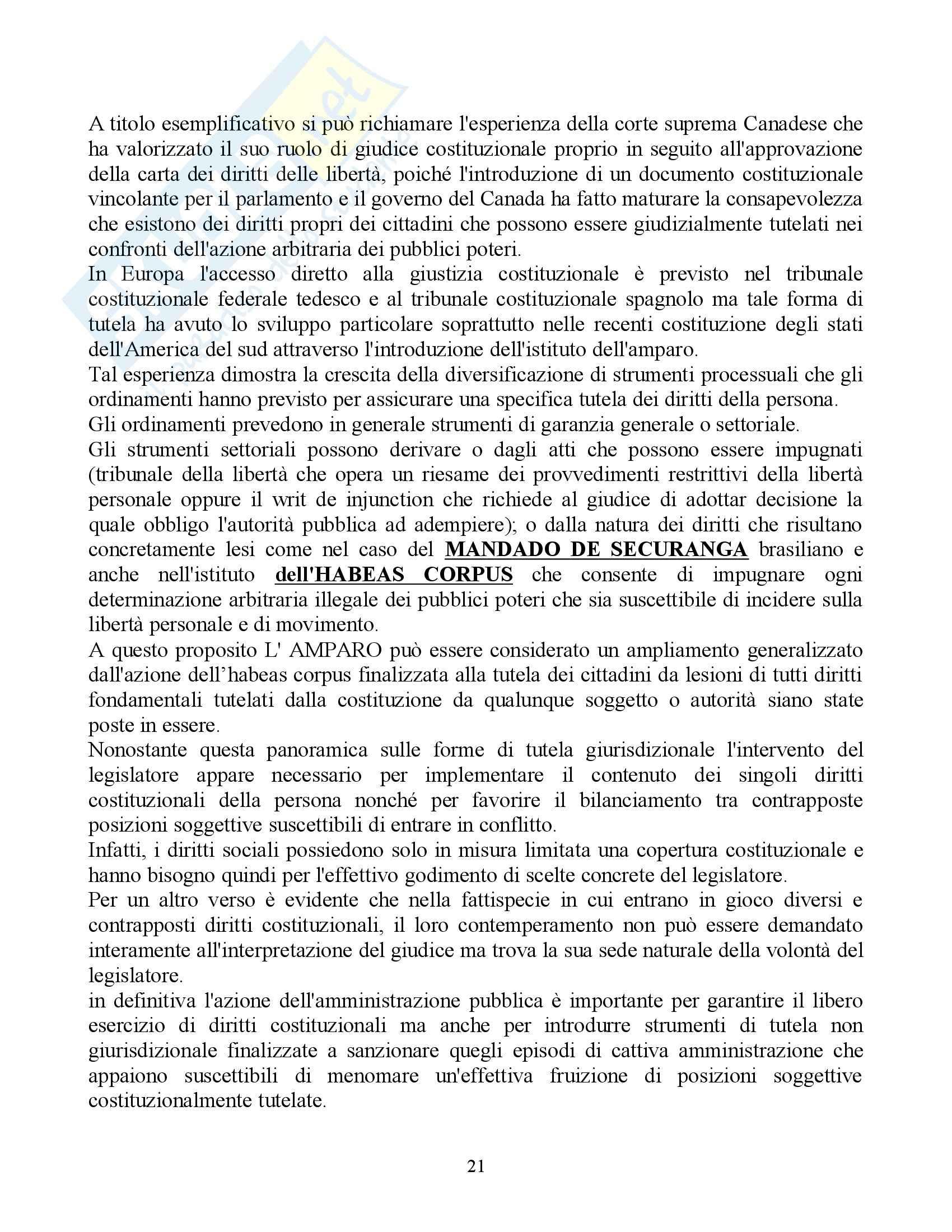 Riassunto esame Diritto Pubblico Comparato, prof. Rolla, libro consigliato Scritti di Diritto Costituzionale Comparato Pag. 21