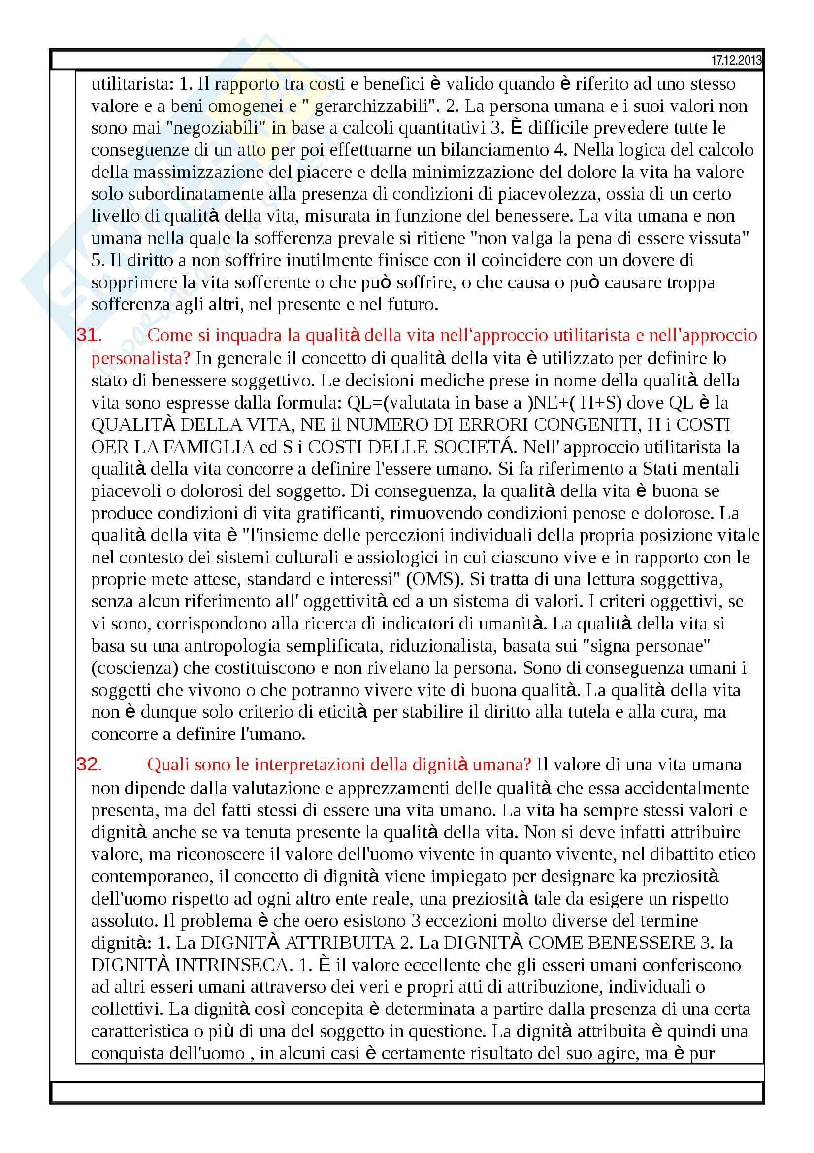 Bioetica - domande Pag. 11