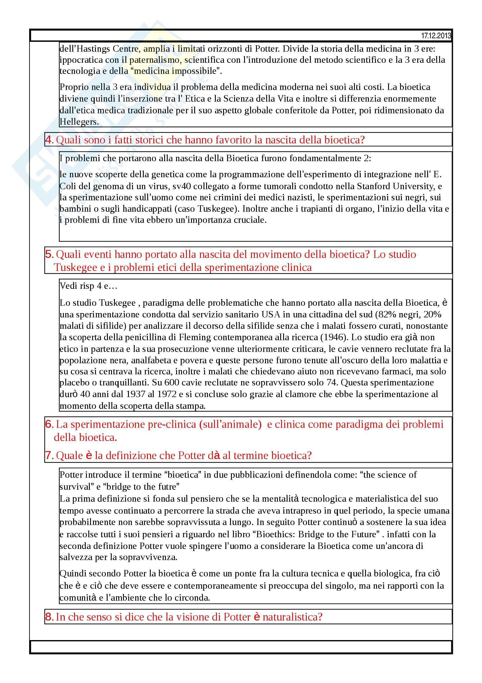 Bioetica - domande Pag. 2