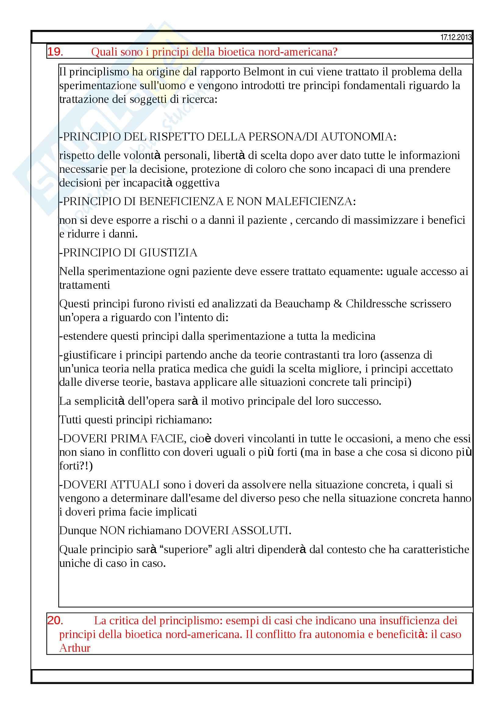 Bioetica - domande Pag. 6