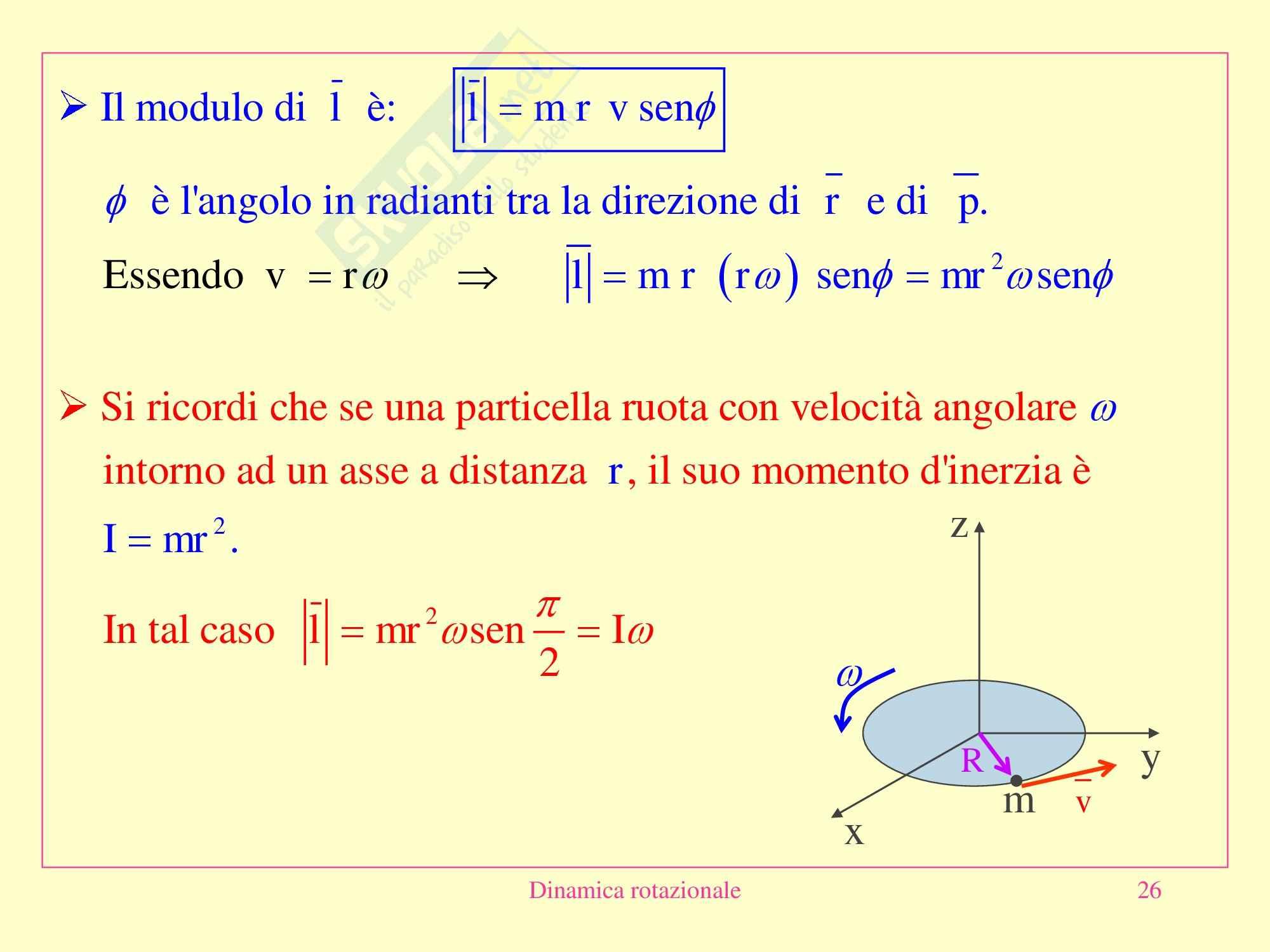 Fisica medica - dinamica rotazionale Pag. 26
