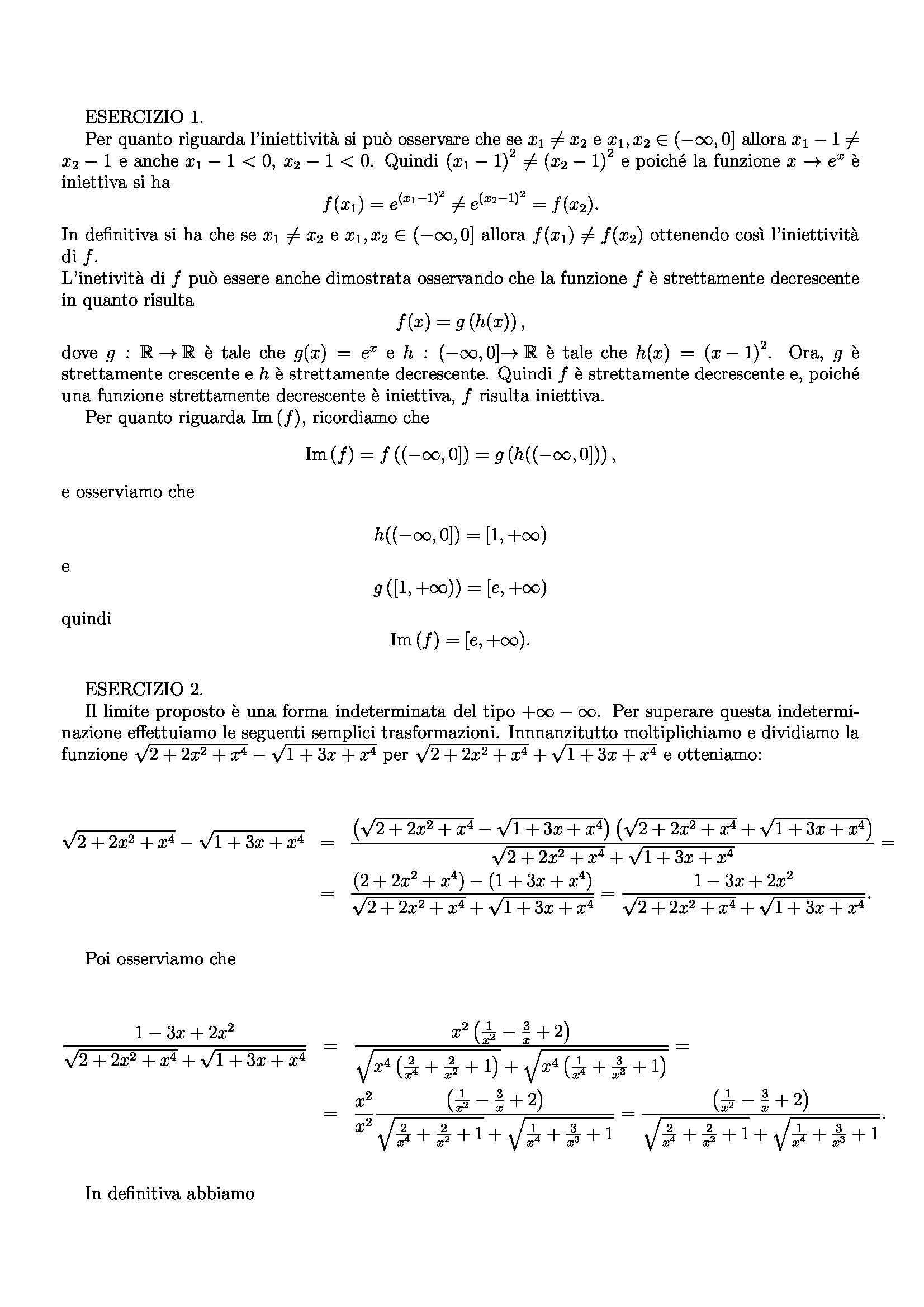 Matematica per le applicazioni economiche - esercizi Pag. 31