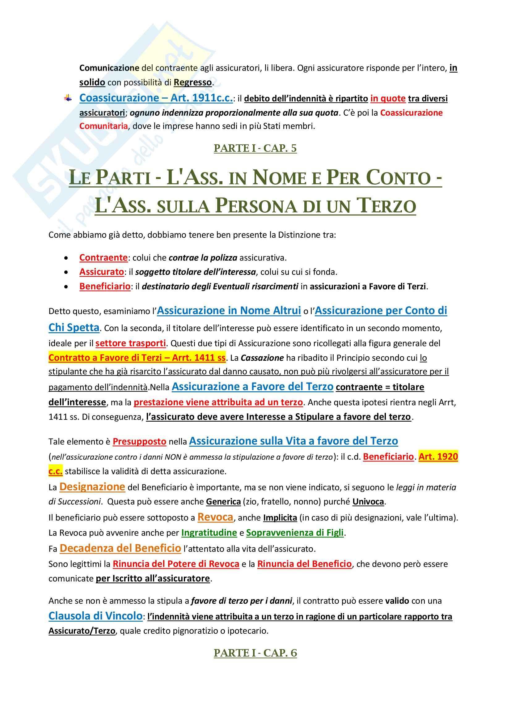Diritto delle Assicurazioni - non frequentante Pag. 6