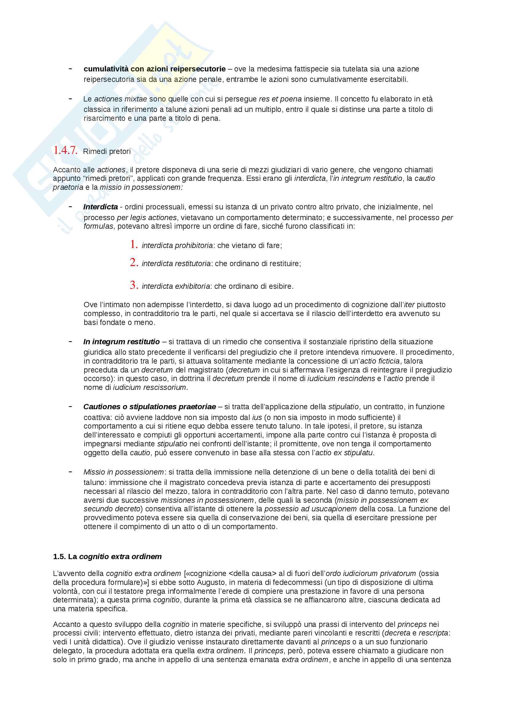 Riassunto esame storia del diritto privato romano, prof. Mannino, libro consigliato Introduzione alla storia del diritto privato dei romani, Mannino Pag. 11