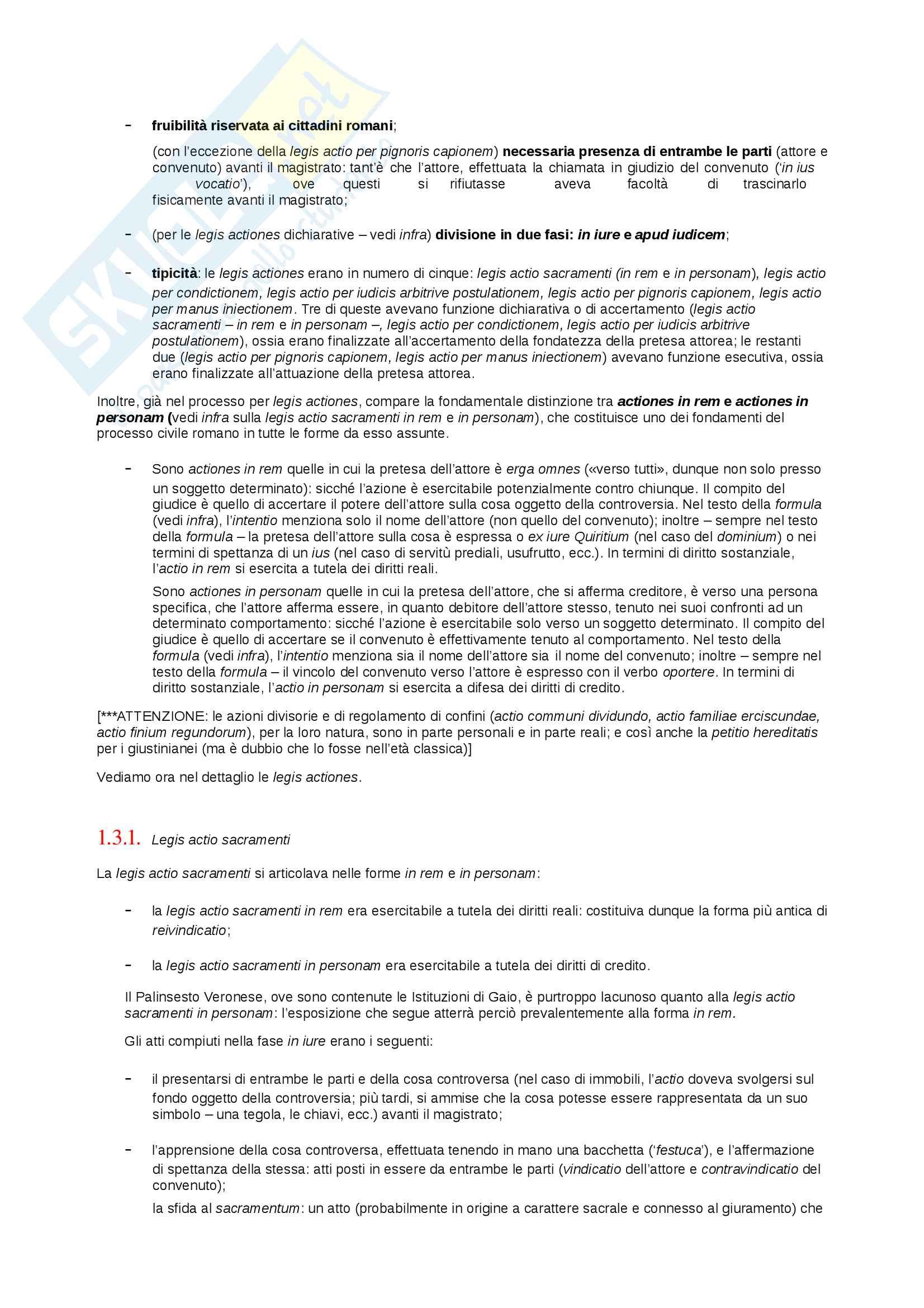 Riassunto esame storia del diritto privato romano, prof. Mannino, libro consigliato Introduzione alla storia del diritto privato dei romani, Mannino Pag. 2
