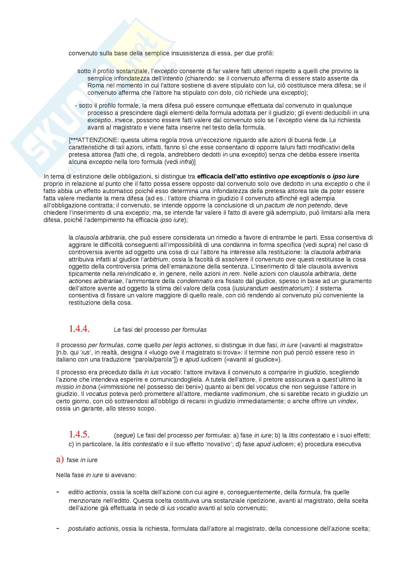 Riassunto esame storia del diritto privato romano, prof. Mannino, libro consigliato Introduzione alla storia del diritto privato dei romani, Mannino Pag. 6
