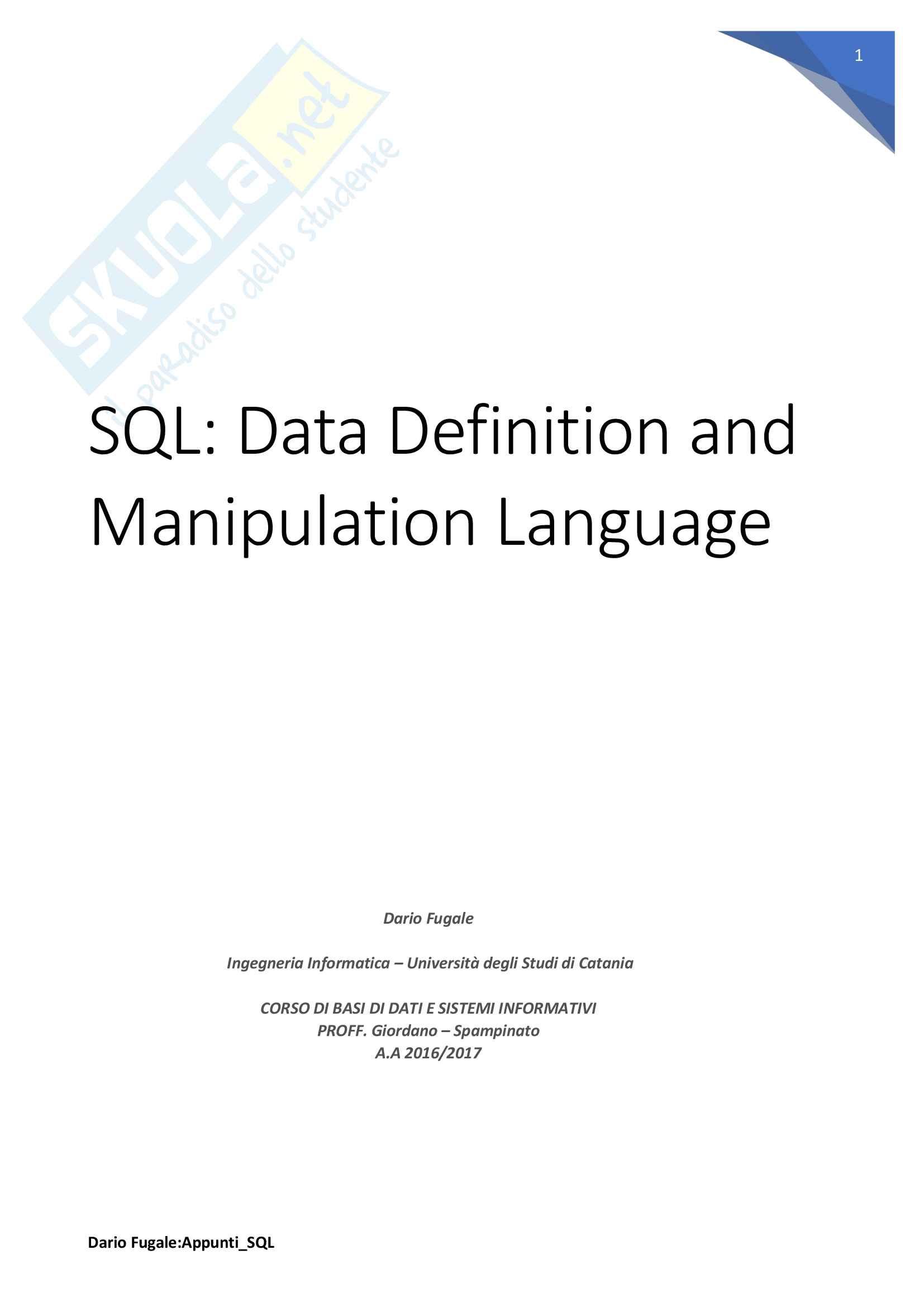 Appunti SQL