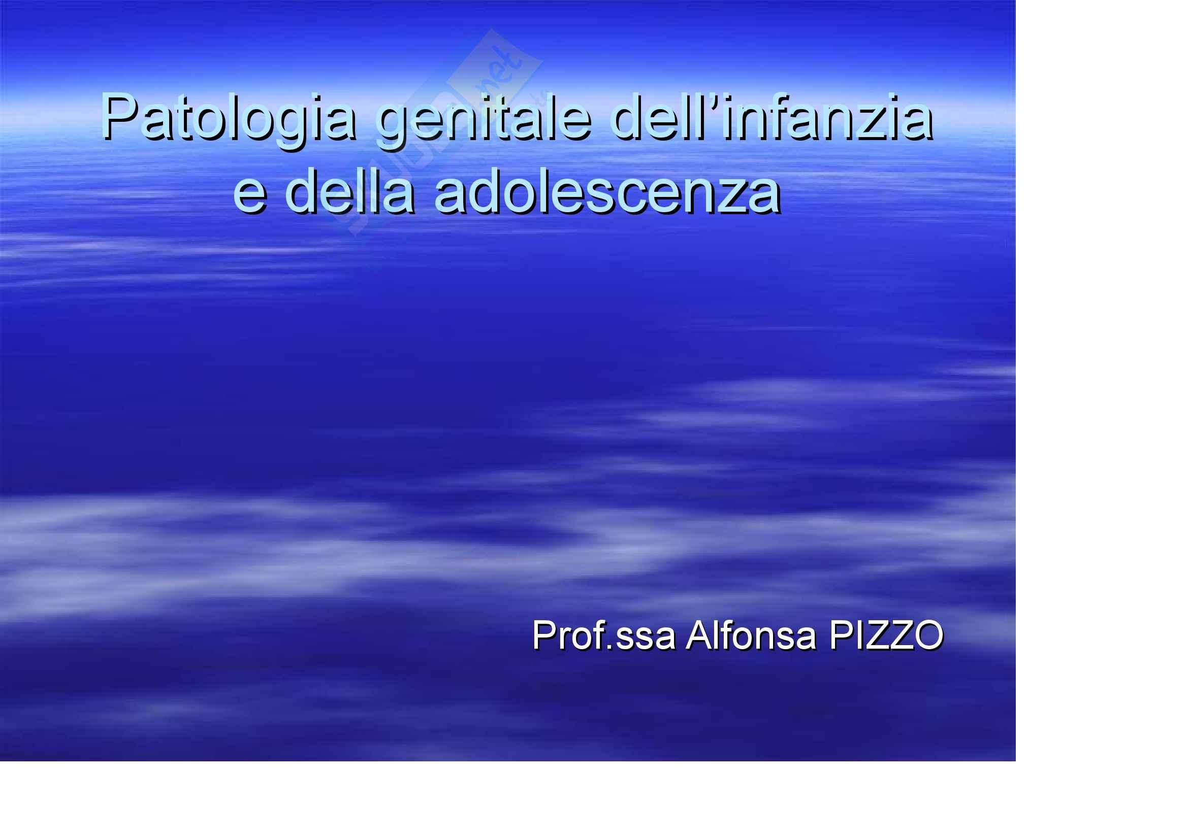 Ginecologia e ostetricia - Patologia Ginecologica dell'infanzia