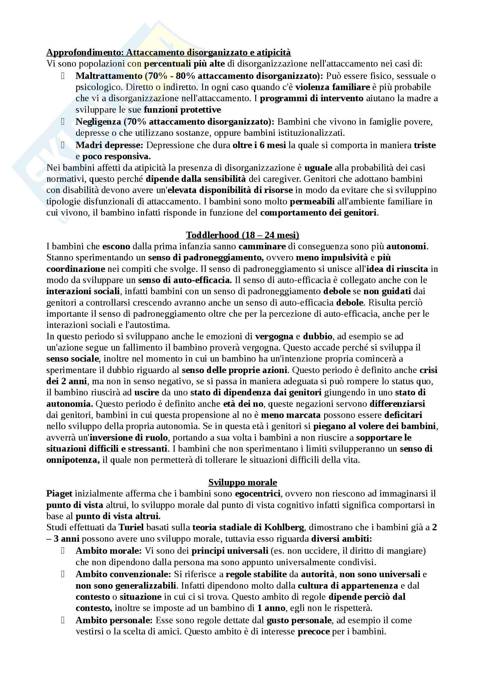 Appunti completi di Sviluppo tipico e atipico, Docente Lavinia Barone Pag. 26