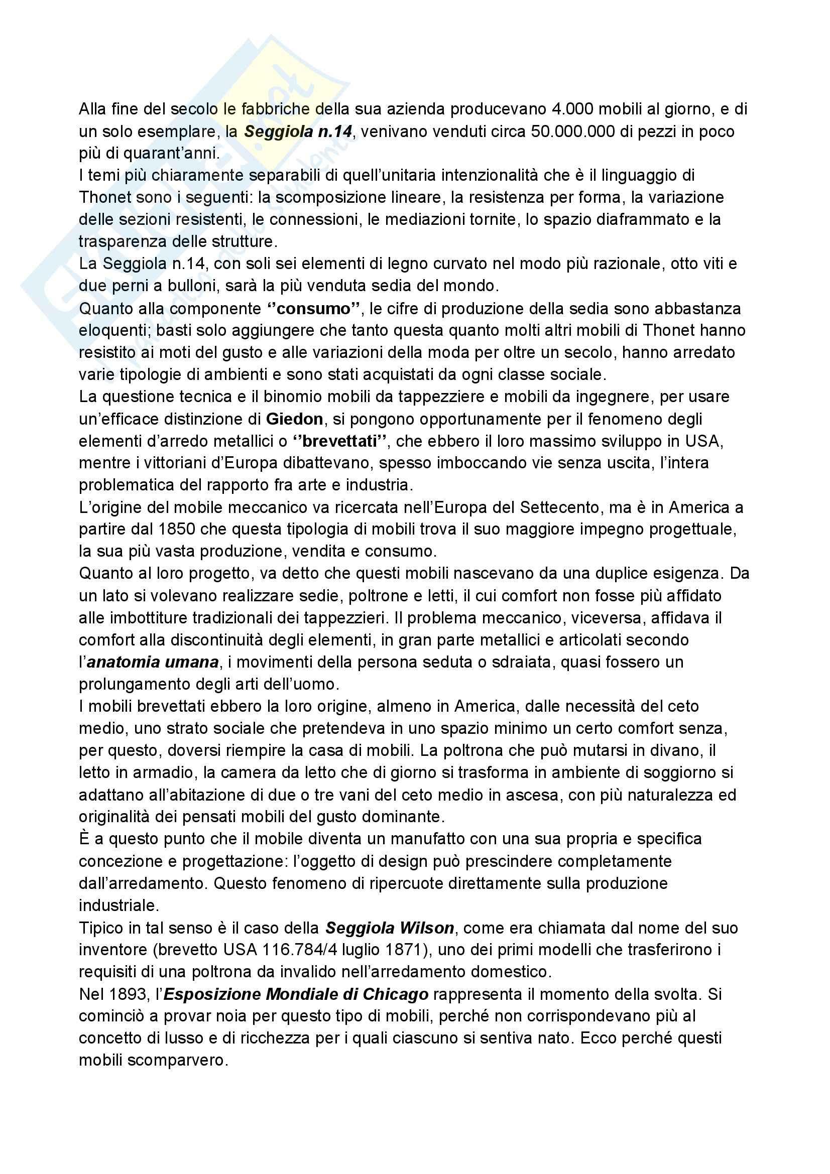 Riassunto esame Storia del design, prof. Ubertazzi, libro consigliato Storia del design, De Fusco Pag. 11
