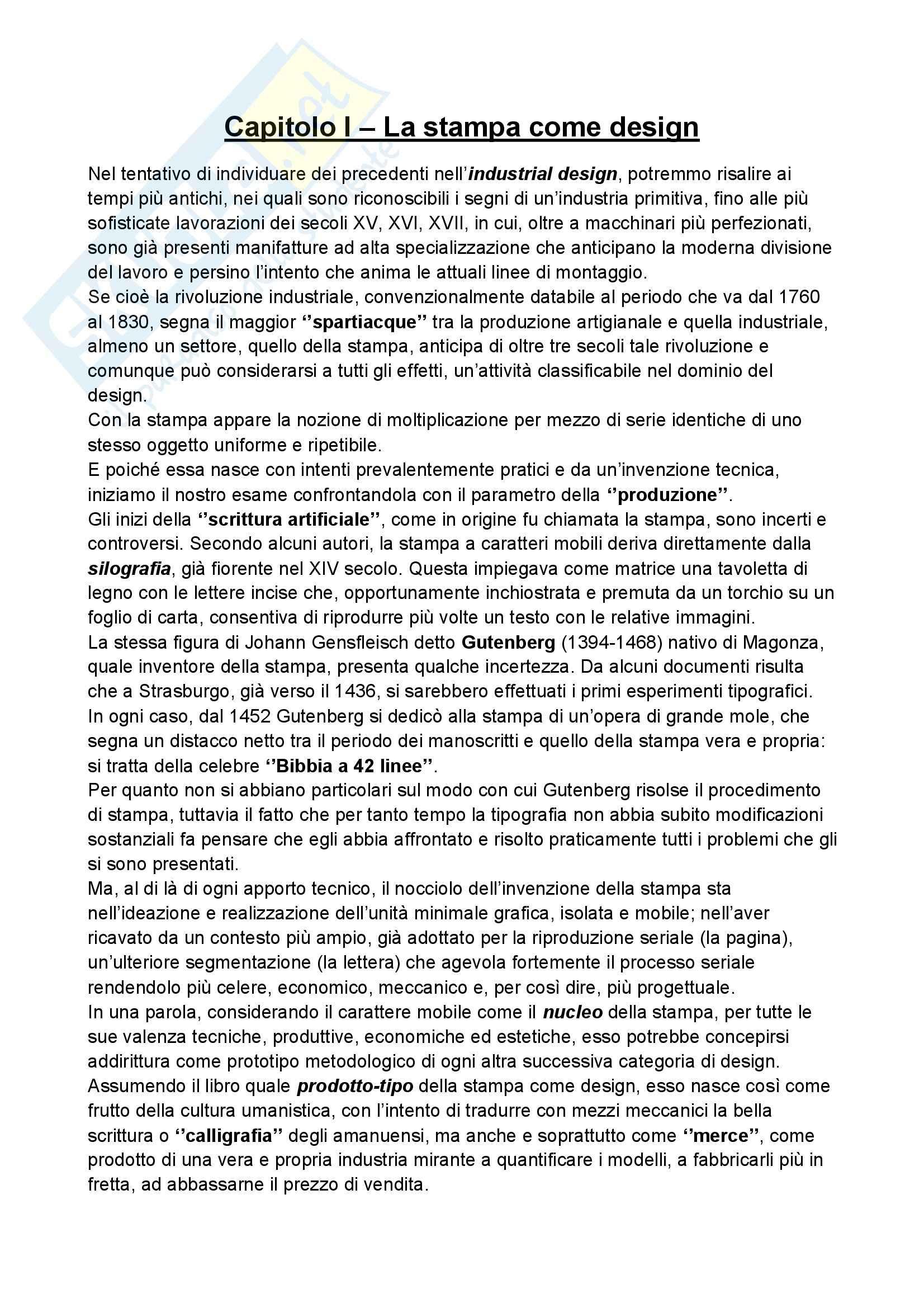 Riassunto esame Storia del design, prof. Ubertazzi, libro consigliato Storia del design, De Fusco Pag. 2