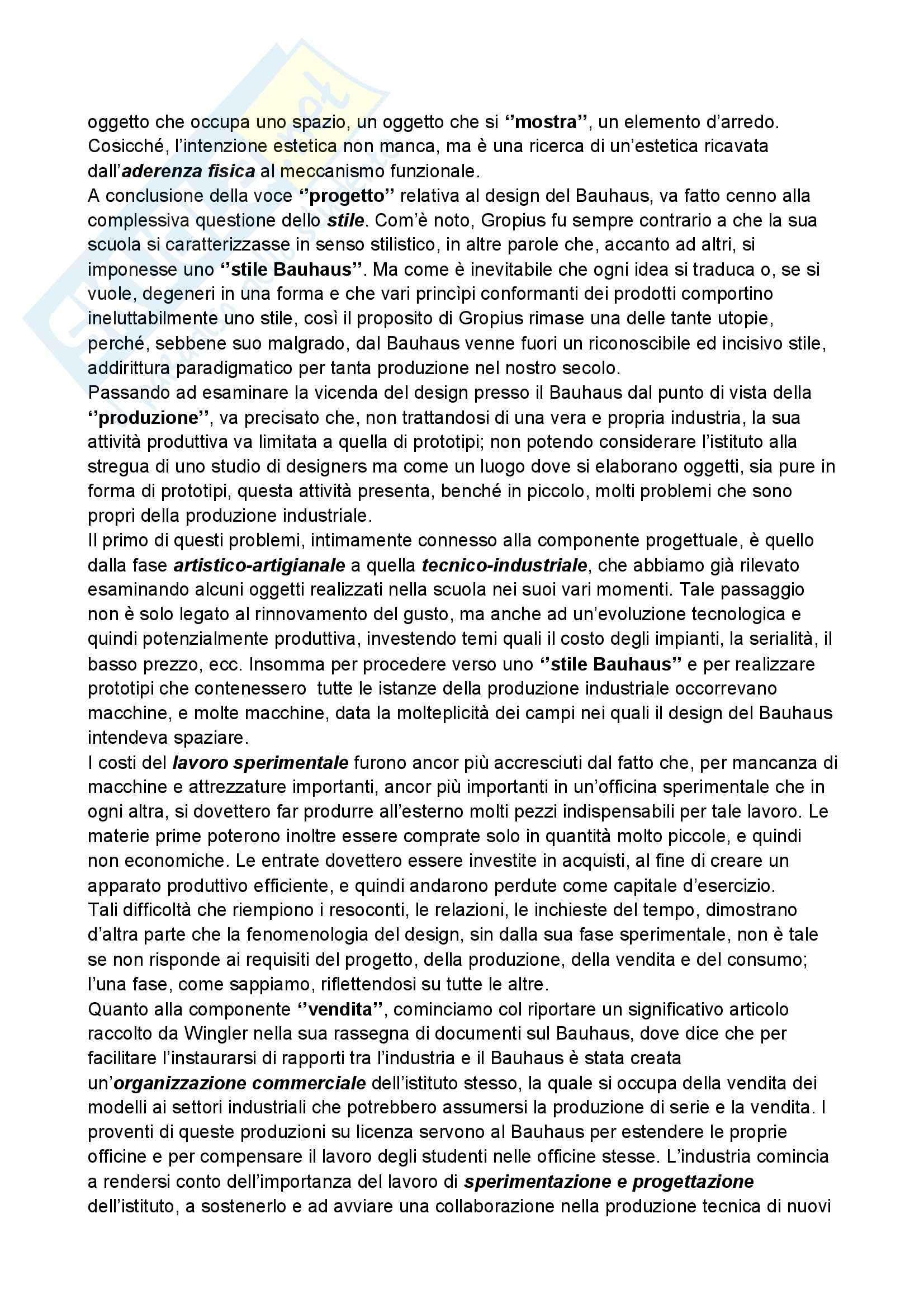 Riassunto esame Storia del design, prof. Ubertazzi, libro consigliato Storia del design, De Fusco Pag. 21