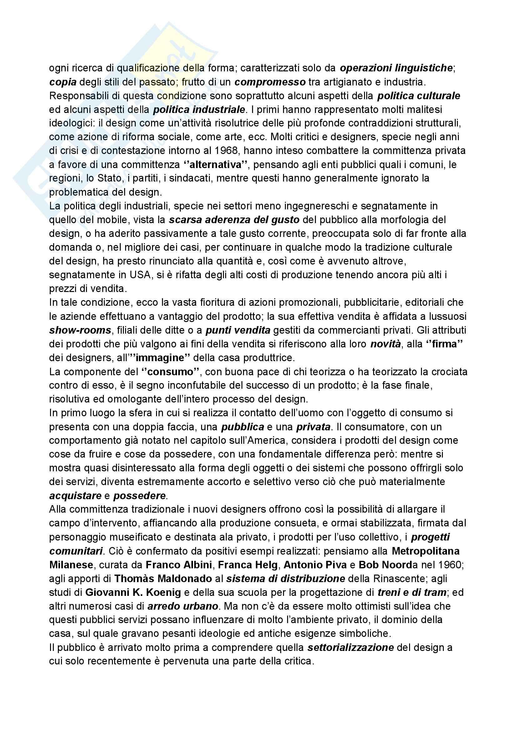 Riassunto esame Storia del design, prof. Ubertazzi, libro consigliato Storia del design, De Fusco Pag. 41