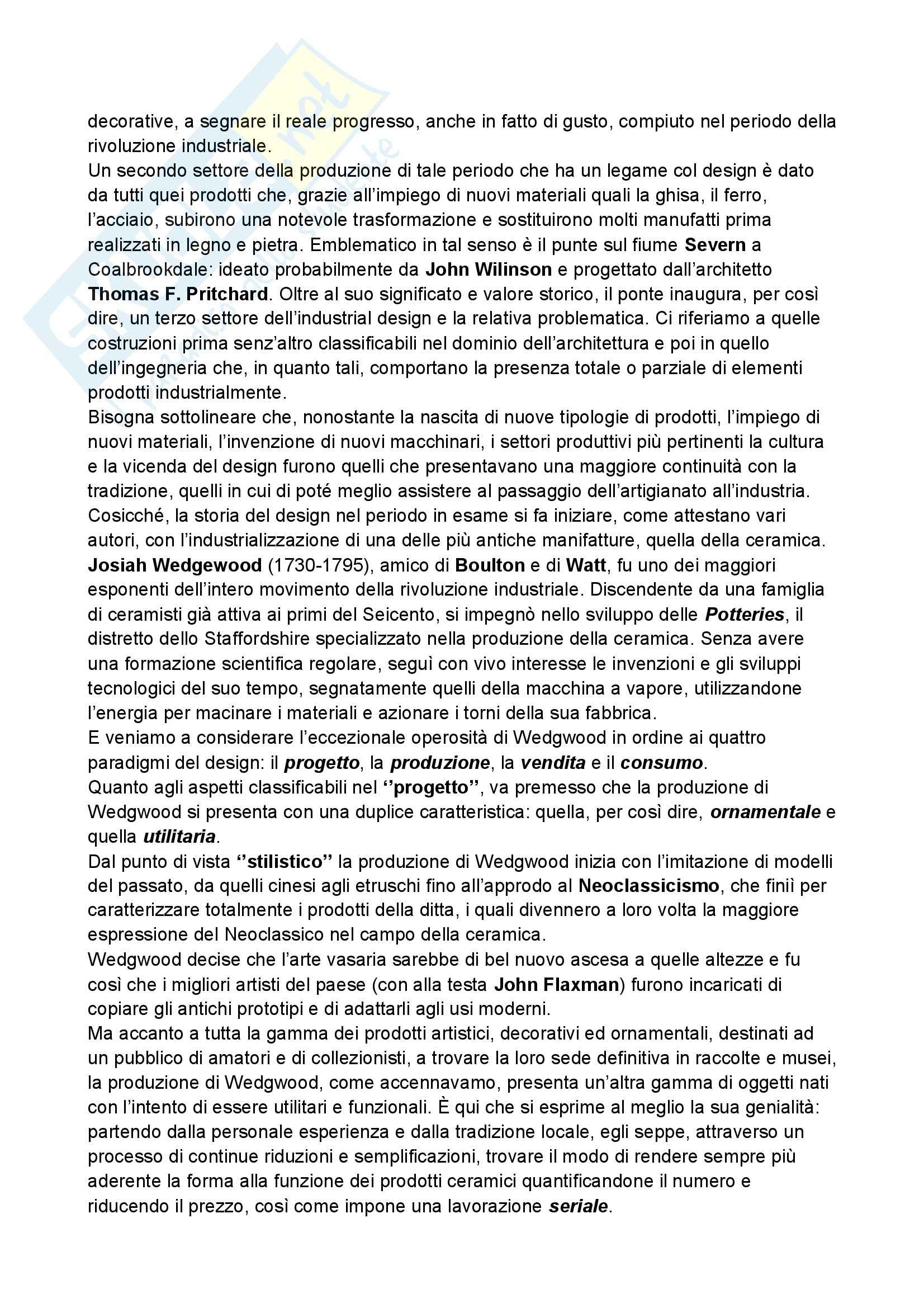 Riassunto esame Storia del design, prof. Ubertazzi, libro consigliato Storia del design, De Fusco Pag. 6