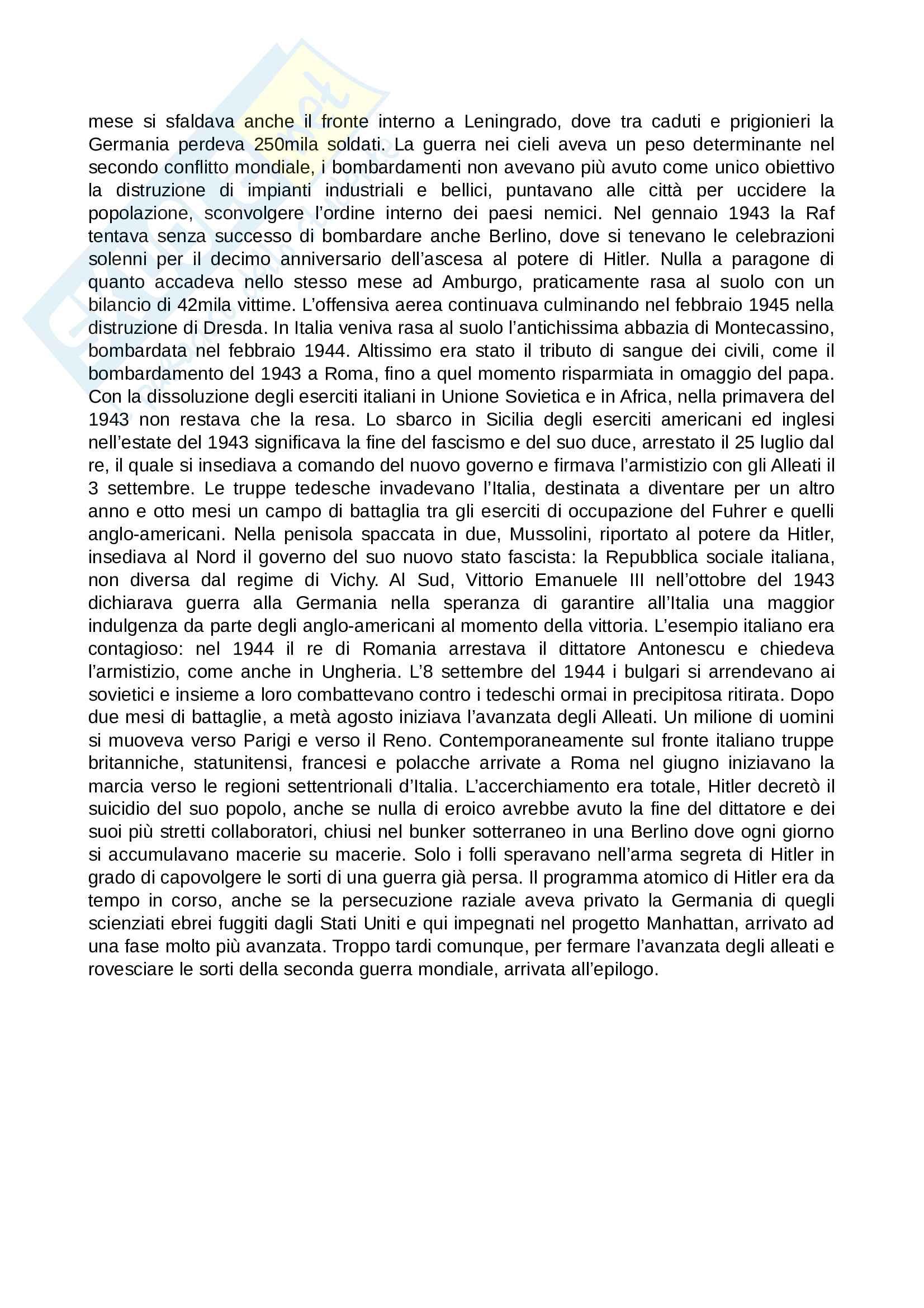 Riassunto esame Storia politica, sociale e culturale dell'età contemporanea, prof. Guiso, libro consigliato Novecento d'Europa, Colarizi Pag. 21
