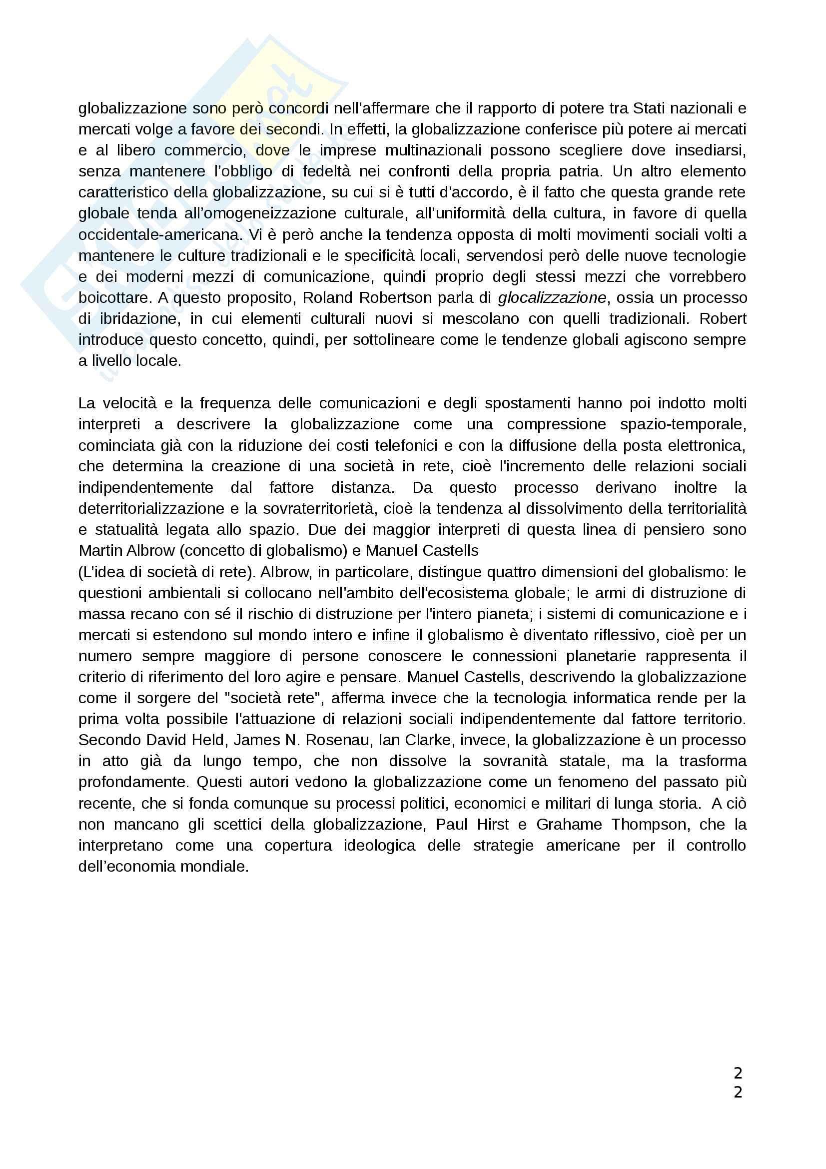 Riassunto esame Teorie Politiche, prof. Chiantera, libro consigliato Storia della Globalizzazione, Osterhammel Pag. 2