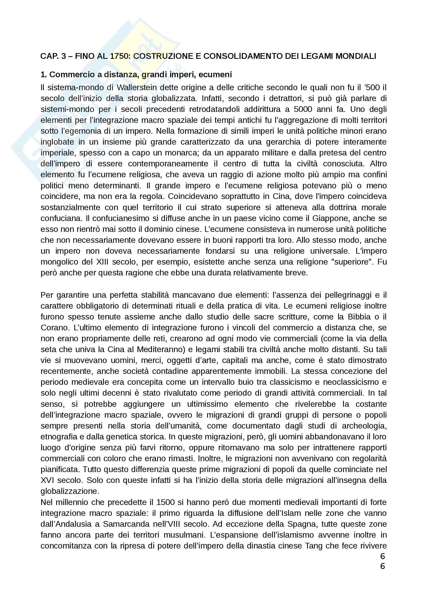 Riassunto esame Teorie Politiche, prof. Chiantera, libro consigliato Storia della Globalizzazione, Osterhammel Pag. 6