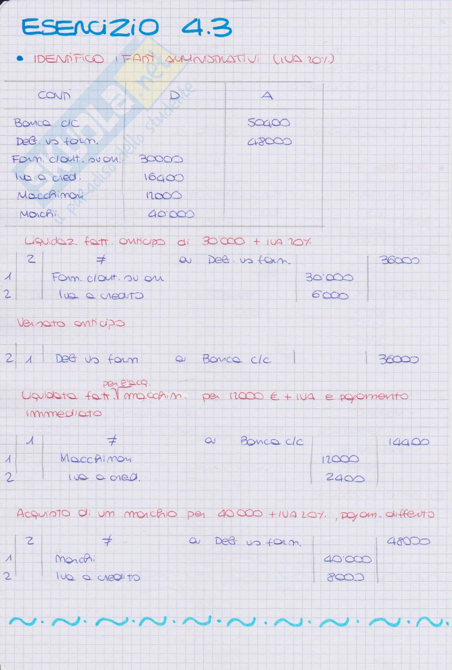 Esercitazioni Ragioneria Metodologica Pag. 16