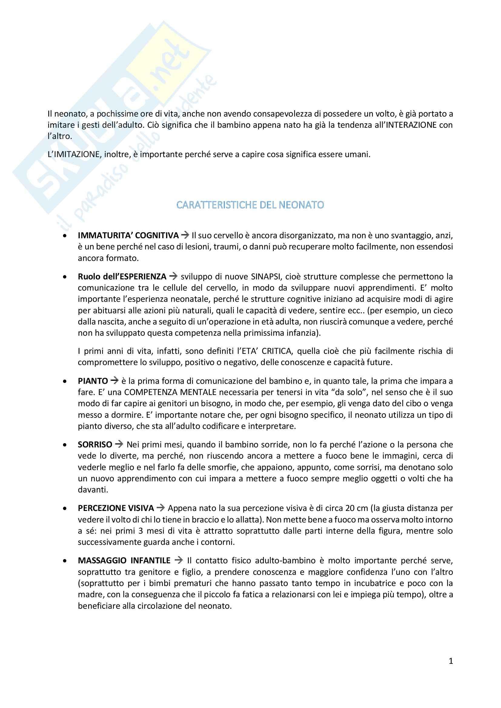 Riassunto esame Psicologia dell'educazione, prof. Grazzani, libro consigliato Psicologia dello sviluppo, Camaioni, Di Blasio